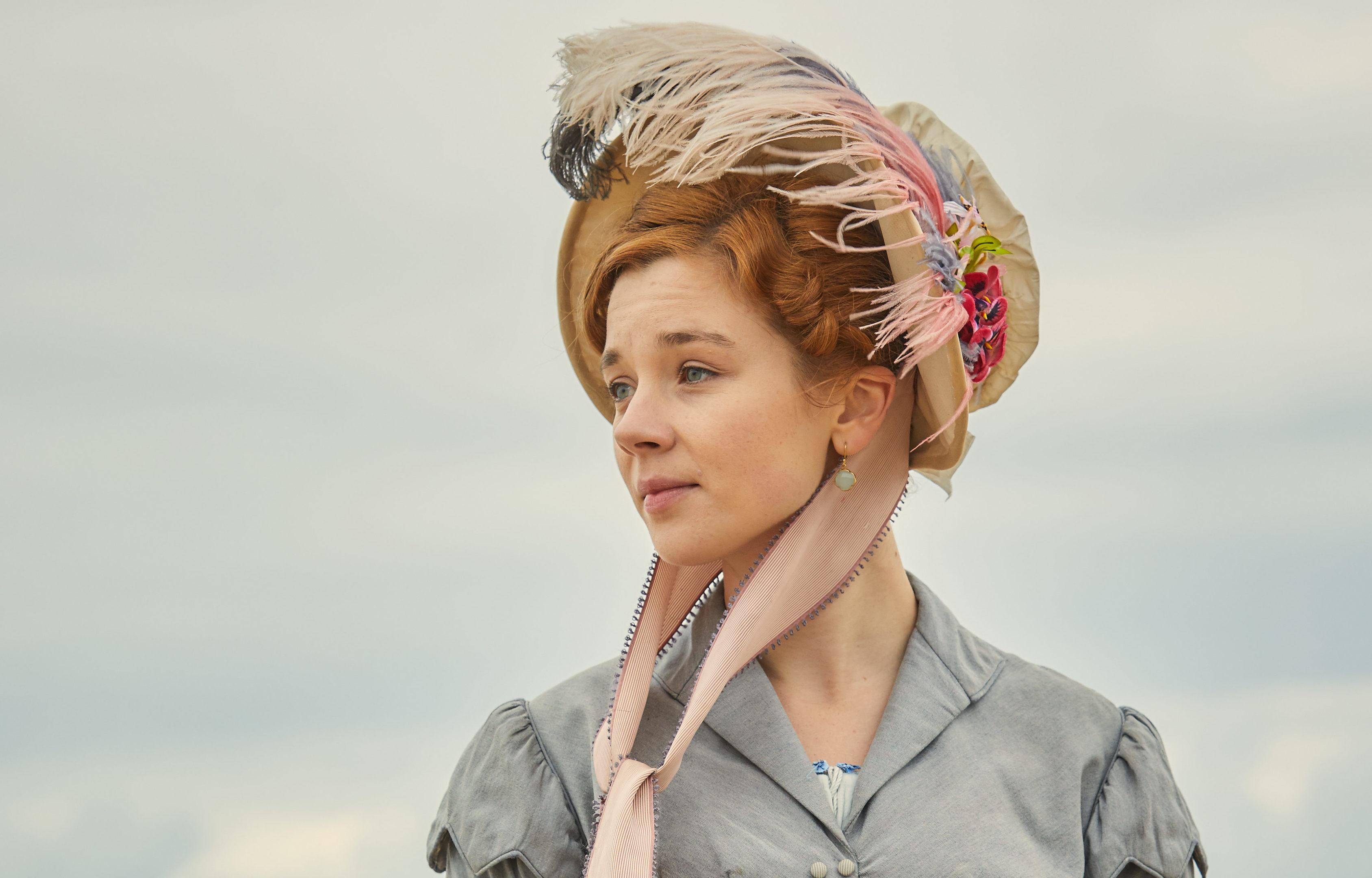 Claudia Jessie as Amelia Sedley in Vanity Fair (ITV)