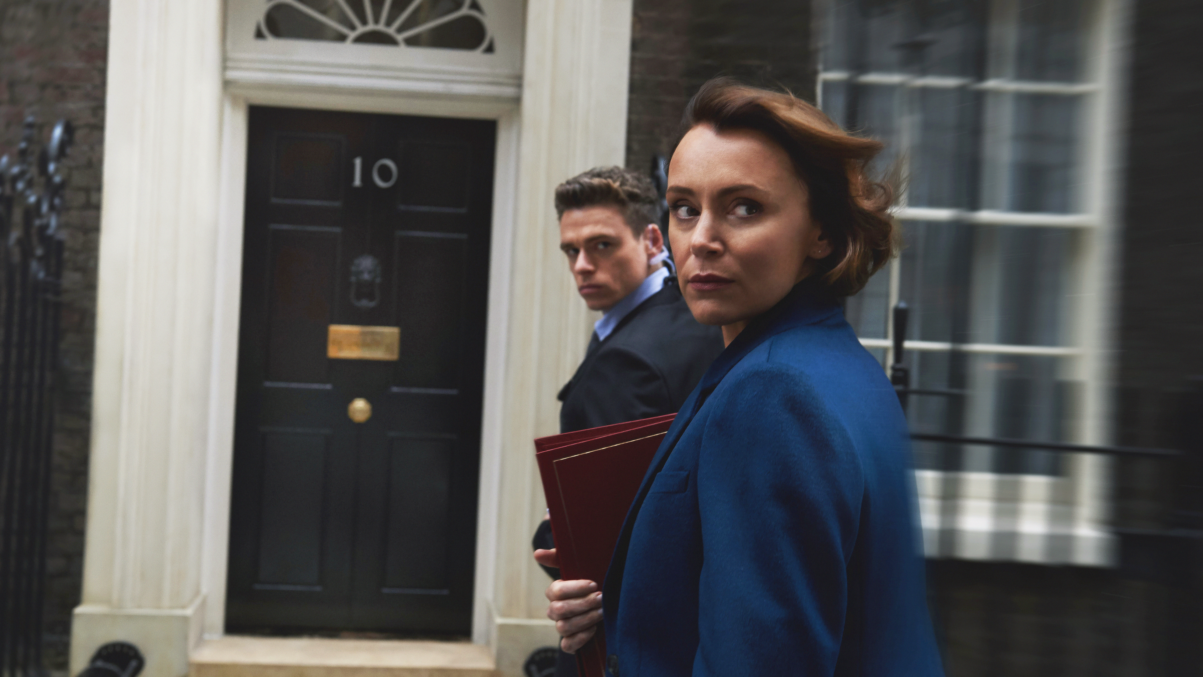 Keeley Hawes and Richard Madden in Bodyguard (World Productions / Des Willie)