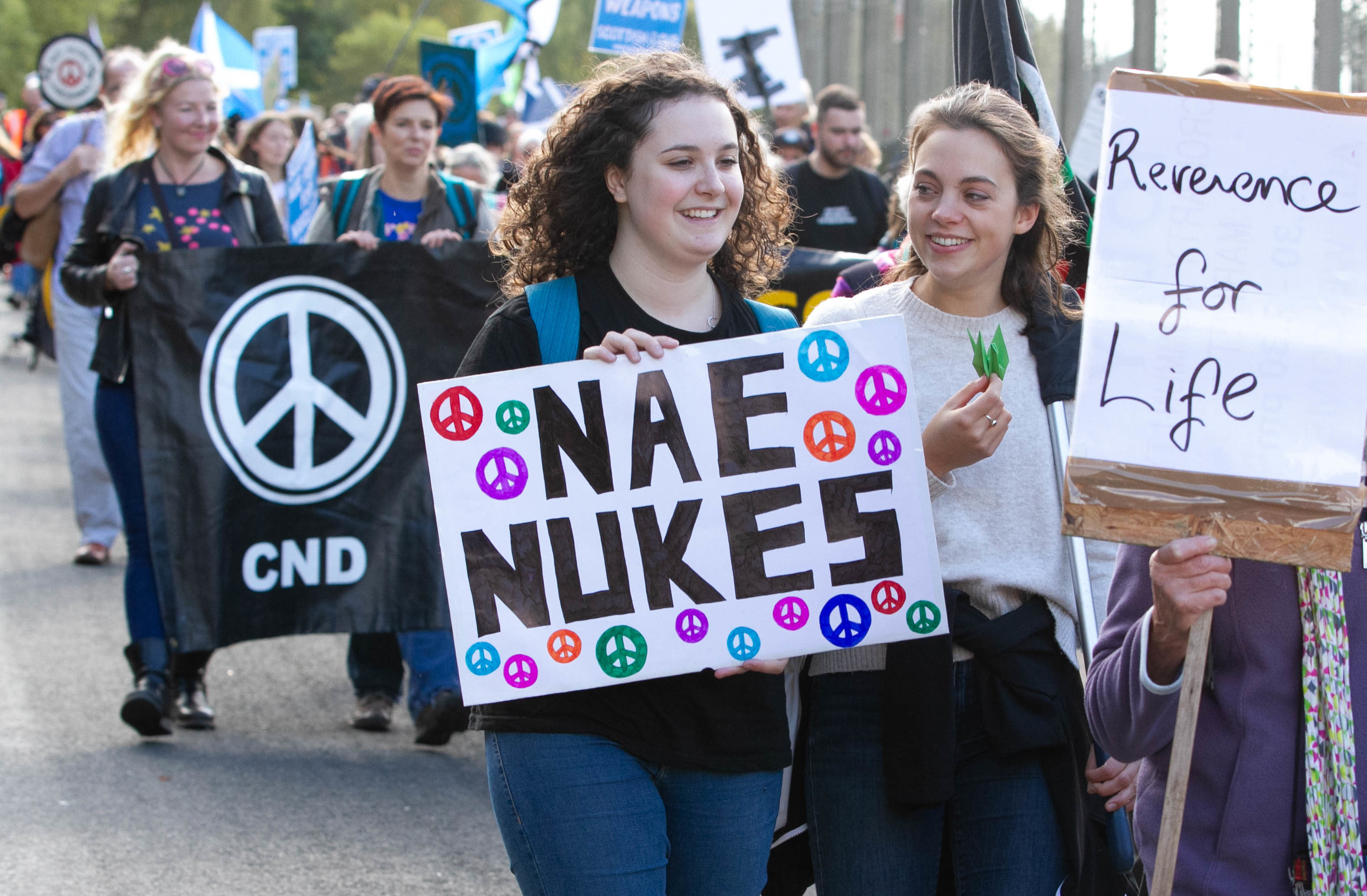 Nae Nukes demo at Faslane Navel Base (Chris Austin / DC Thomson)