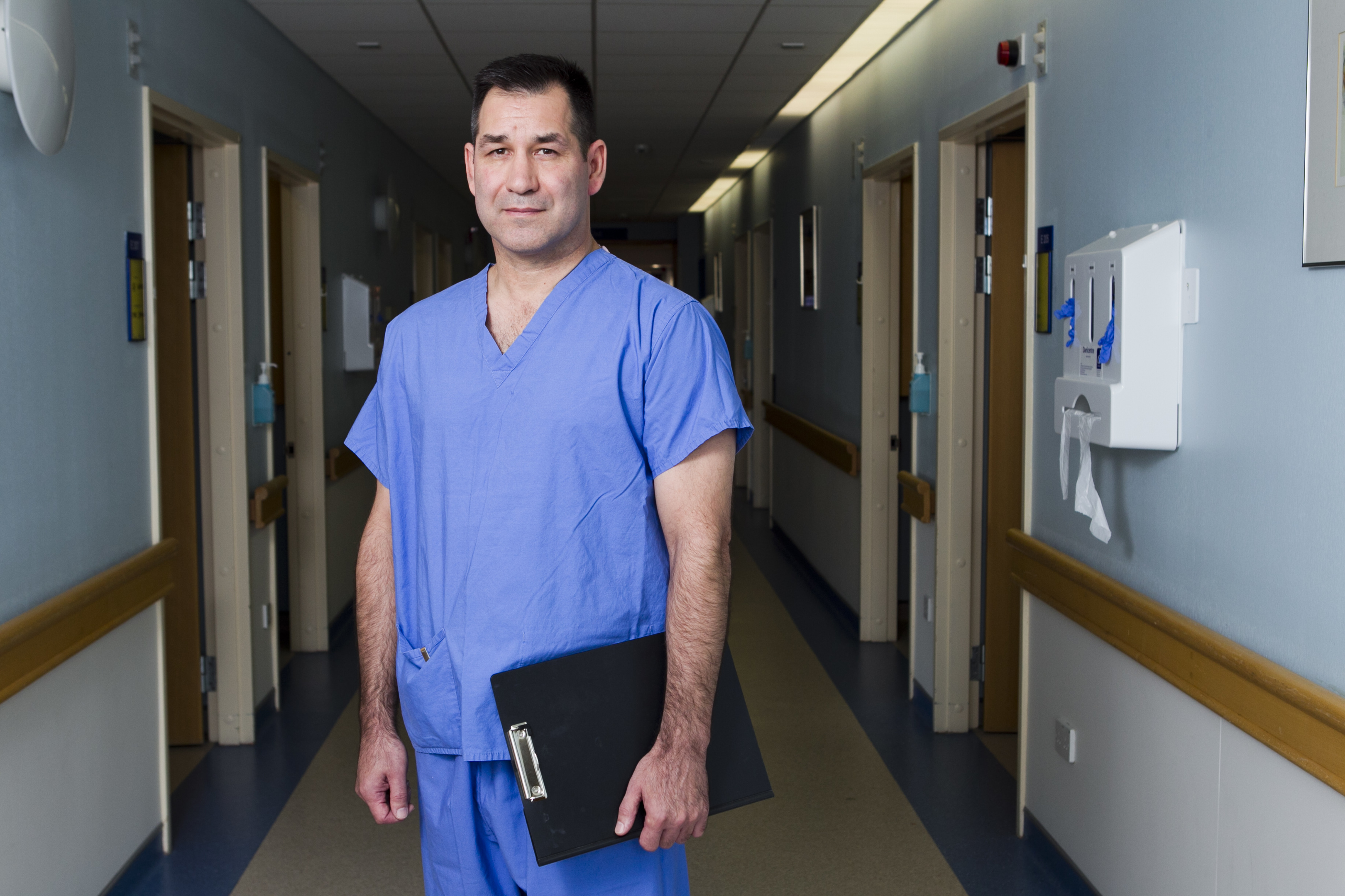 Former US Army medic Jon Stubblefield now works at the Golden Jubilee Hospital, Clydebank (Andrew Cawley / DC Thomson)