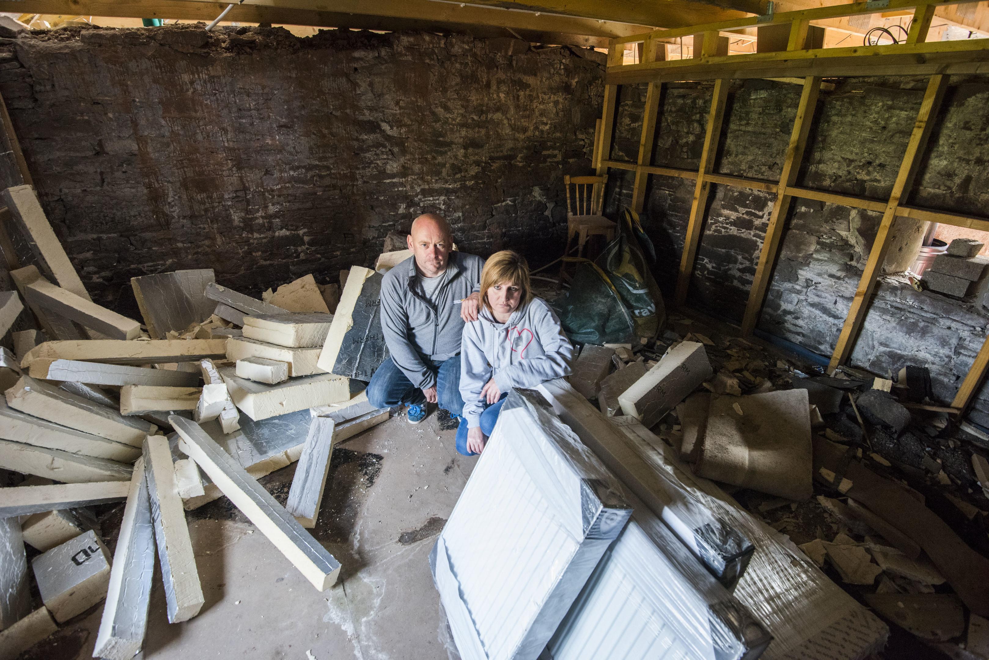 Graeme and Karrena Kerr had planned their dream home (Alan Richardson)