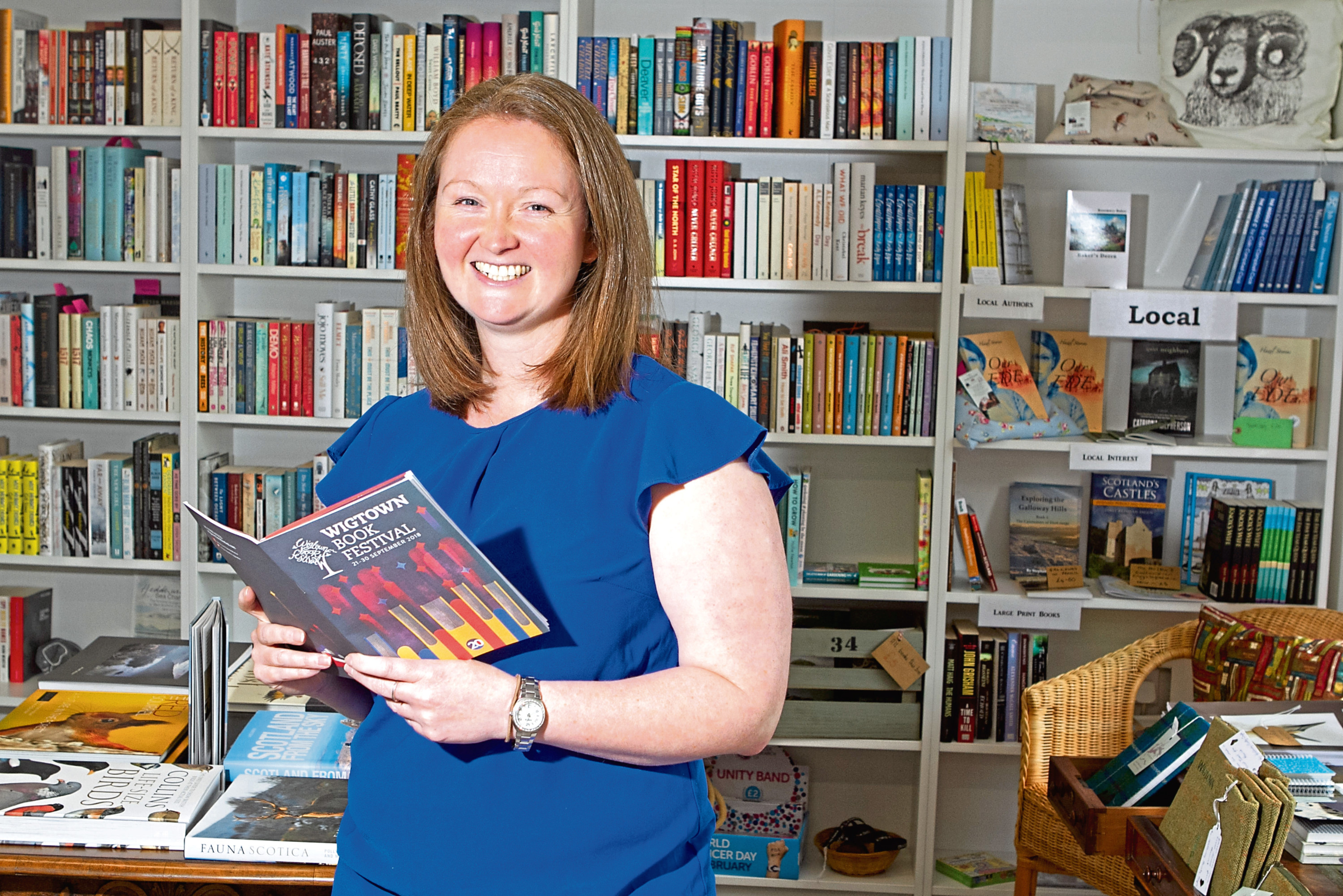 Anne Barclay, operational manager of Wigtown's book festival (Chris Austin / DC Thomson)