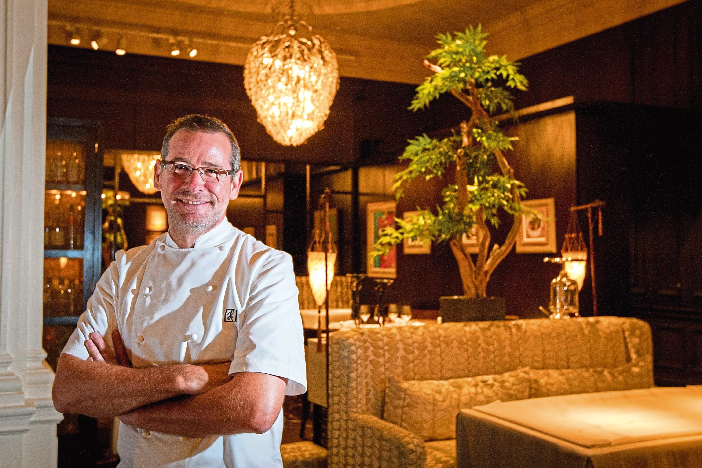 Andrew Fairlie  at his Gleneagles Hotel restaurant (Steve MacDougall / DC Thomson)