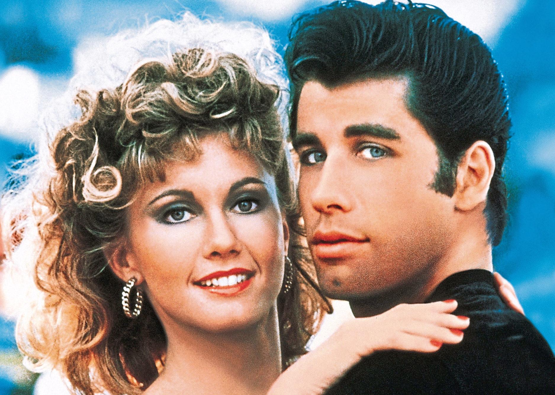 Olivia Newton-John and John Travolta in their starring roles