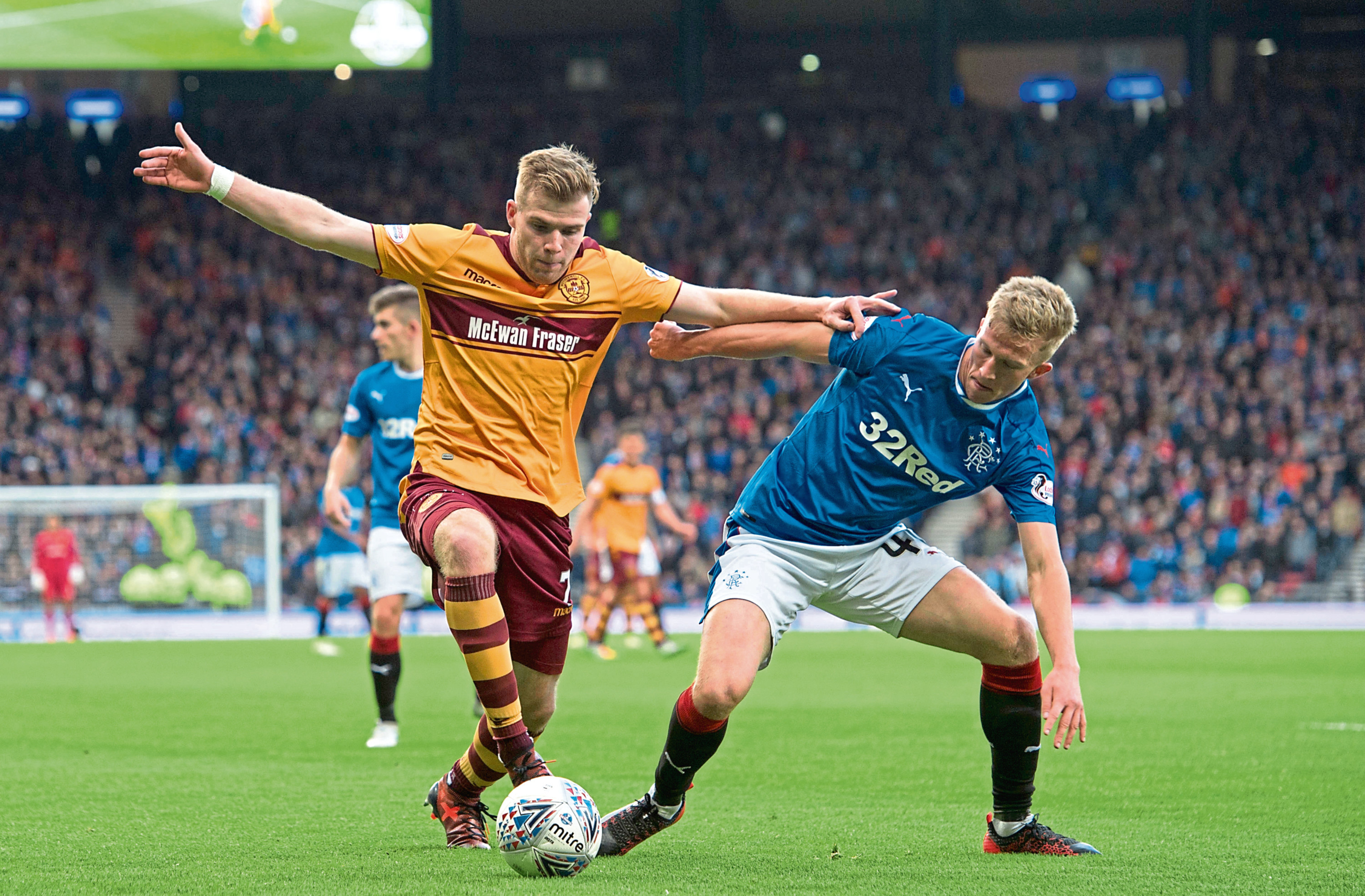 Rangers' Ross McCrorie in action at Hampden (SNS Group)