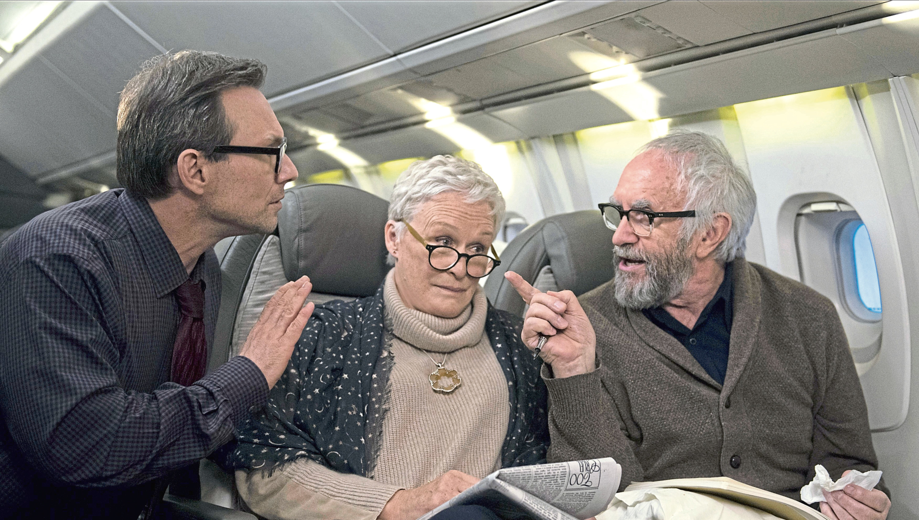 Christian Slater, Glenn Close and Jonathan Pryce star in The Wife which had scenes shot in various Scottish locations (Graeme Hunter / Meta Film London Ltd)