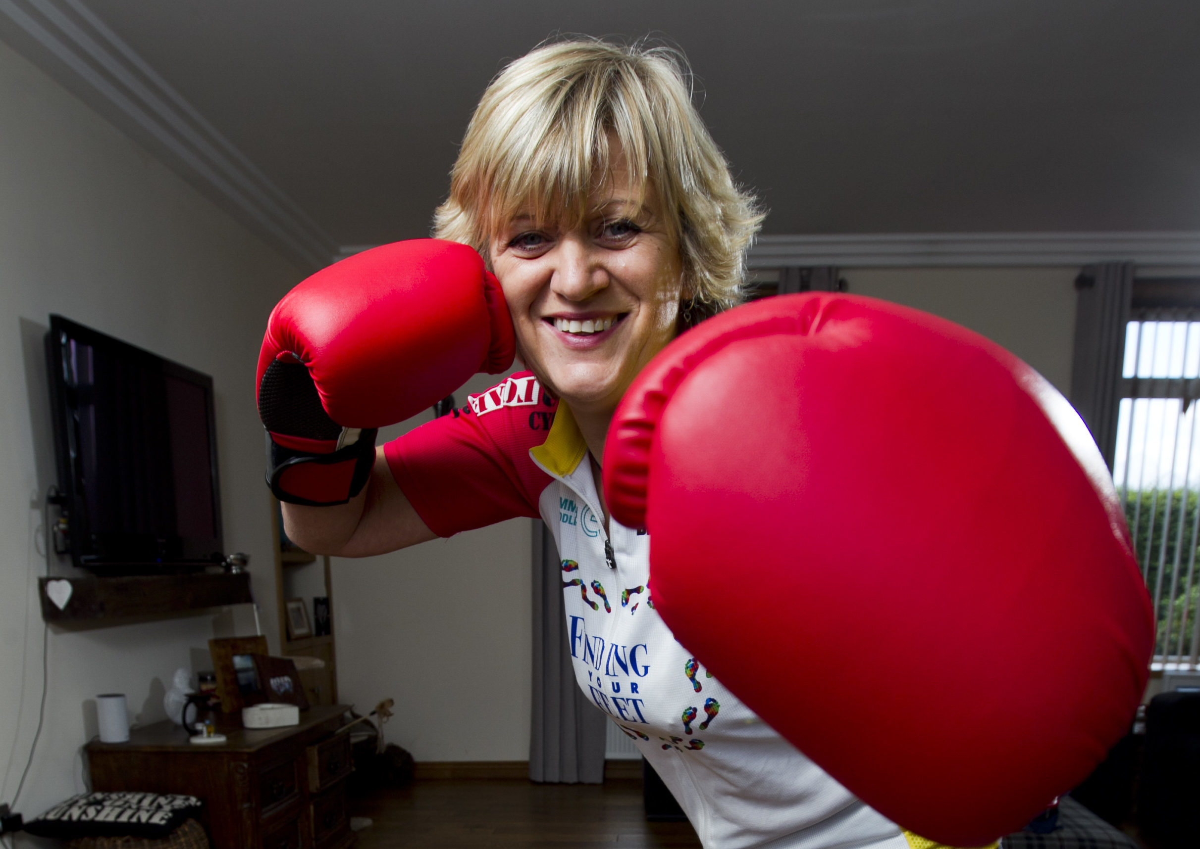 Double amputee Corinne Hutton is going to be climbing Mount Kilimanjaro raising money for her charity, Finding Your Feet. She will need to use boxing gloves to help her crawl up parts of the climb. (Andrew Cawley)