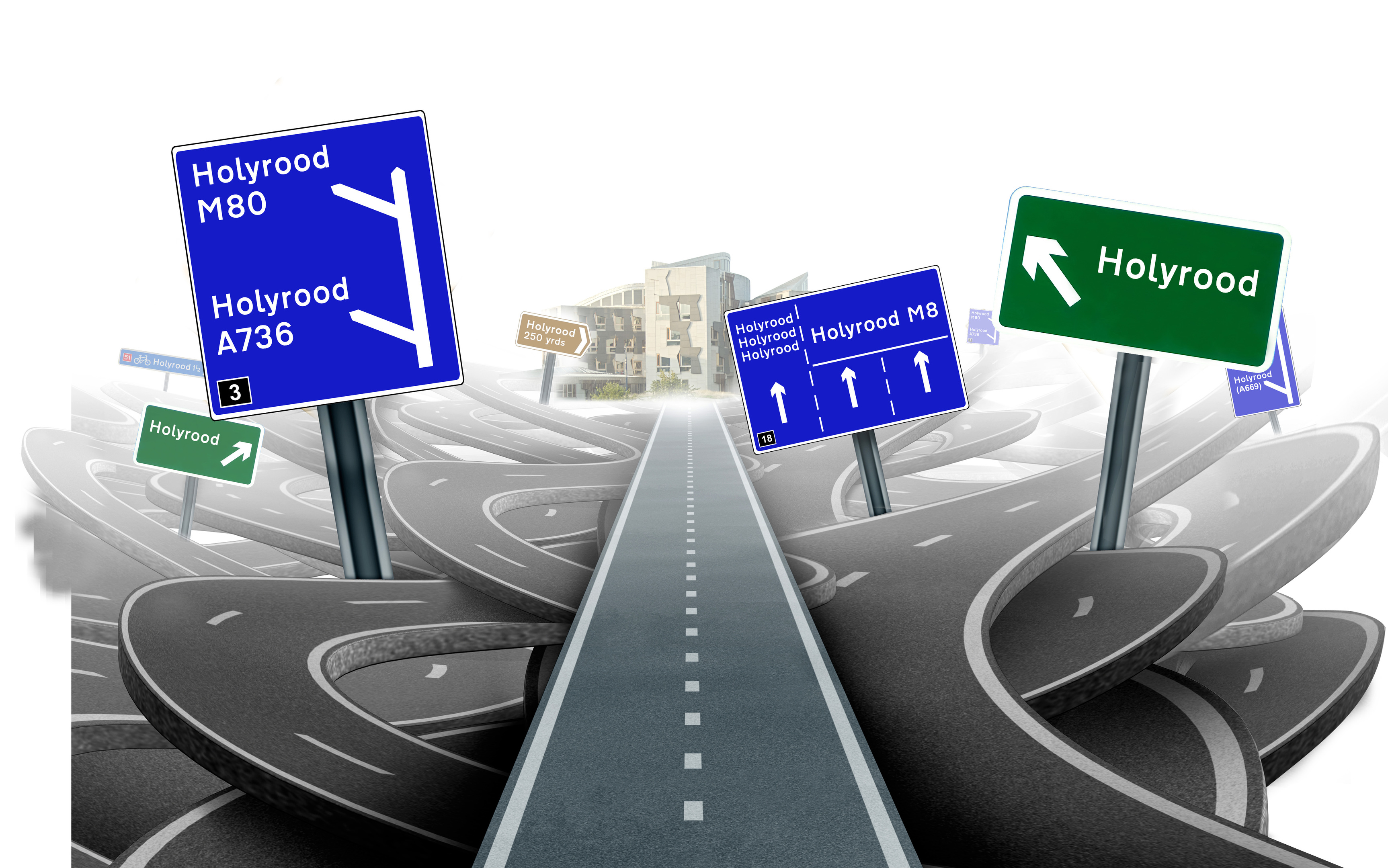 """""""All roads lead to Holyrood."""""""