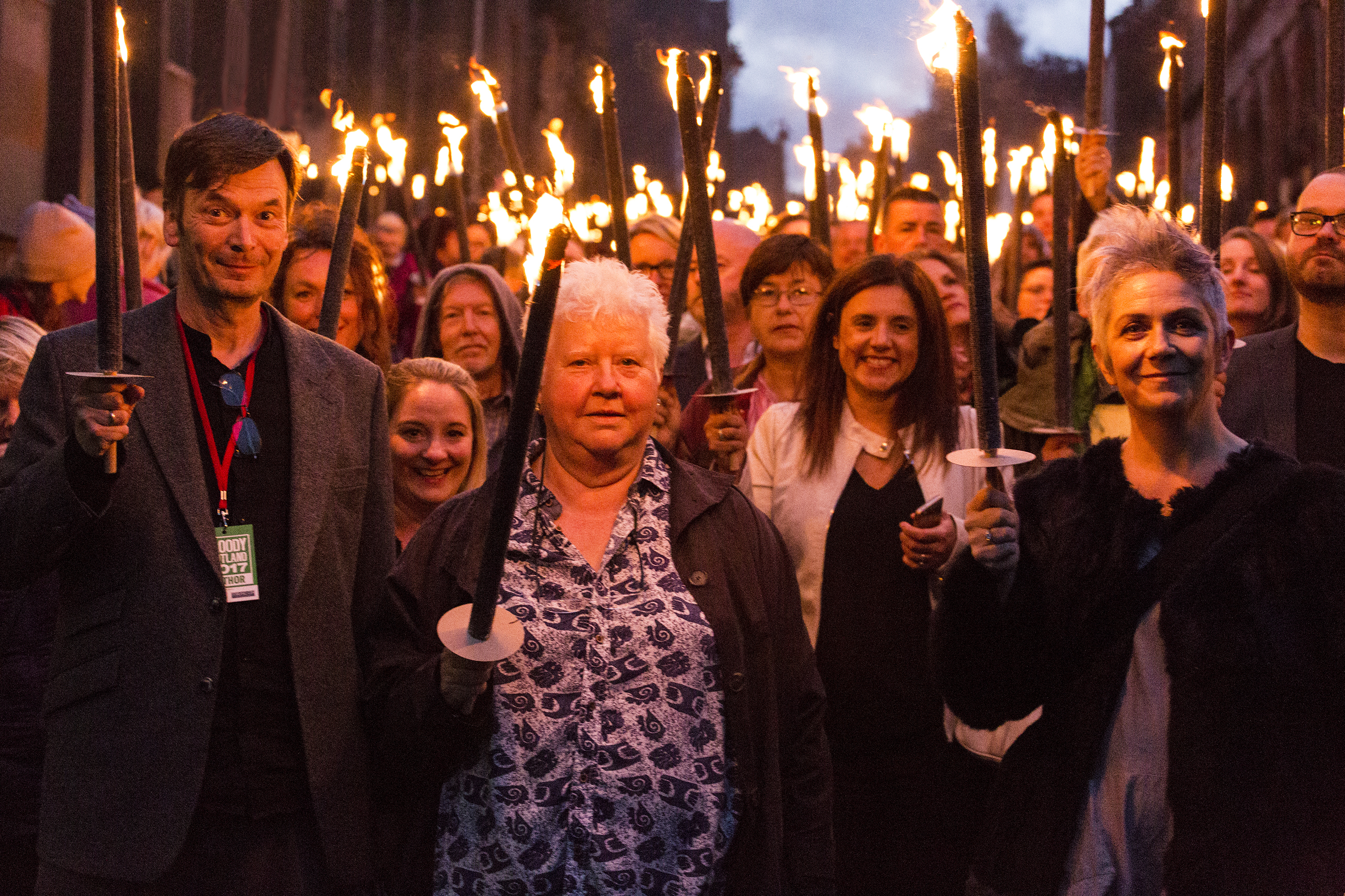 Ian Rankin, Val McDermid and Denise Mina at Bloody Scotland's opening parade last year (Paul Reich)