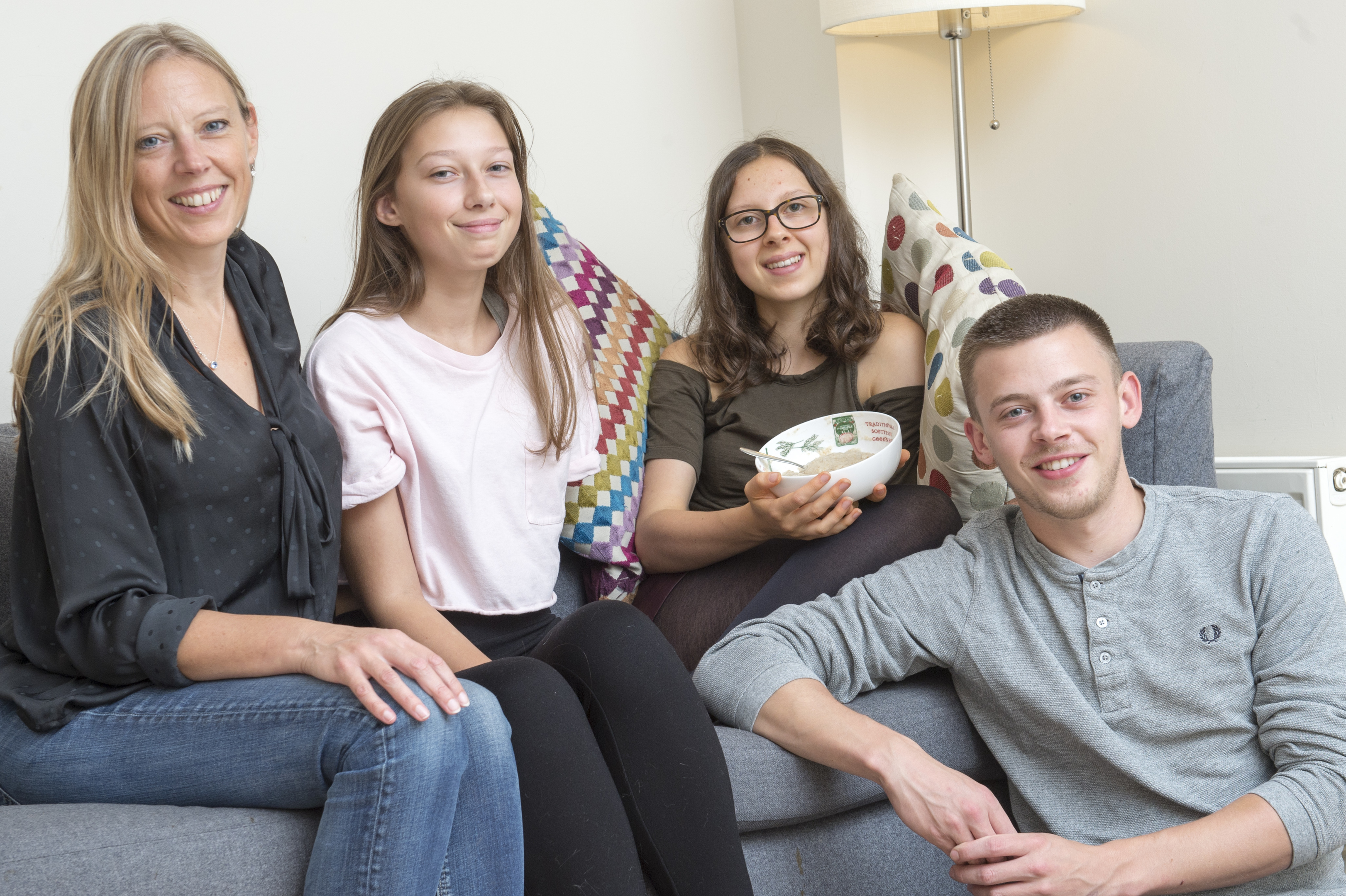 Madeleine with mum Annette, sister Laura and brother Jonny (Dean Atkins)
