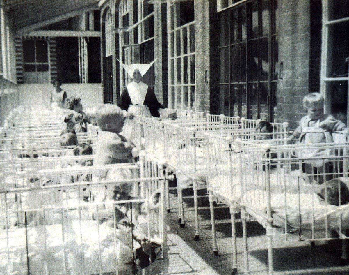 Nuns and babies at the Smyllum orphanage