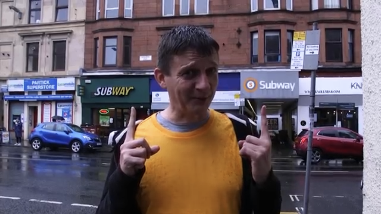 Geoff at Kelvinhall, where it's easy to get mixed up! (Geoff Marshall / YouTube)