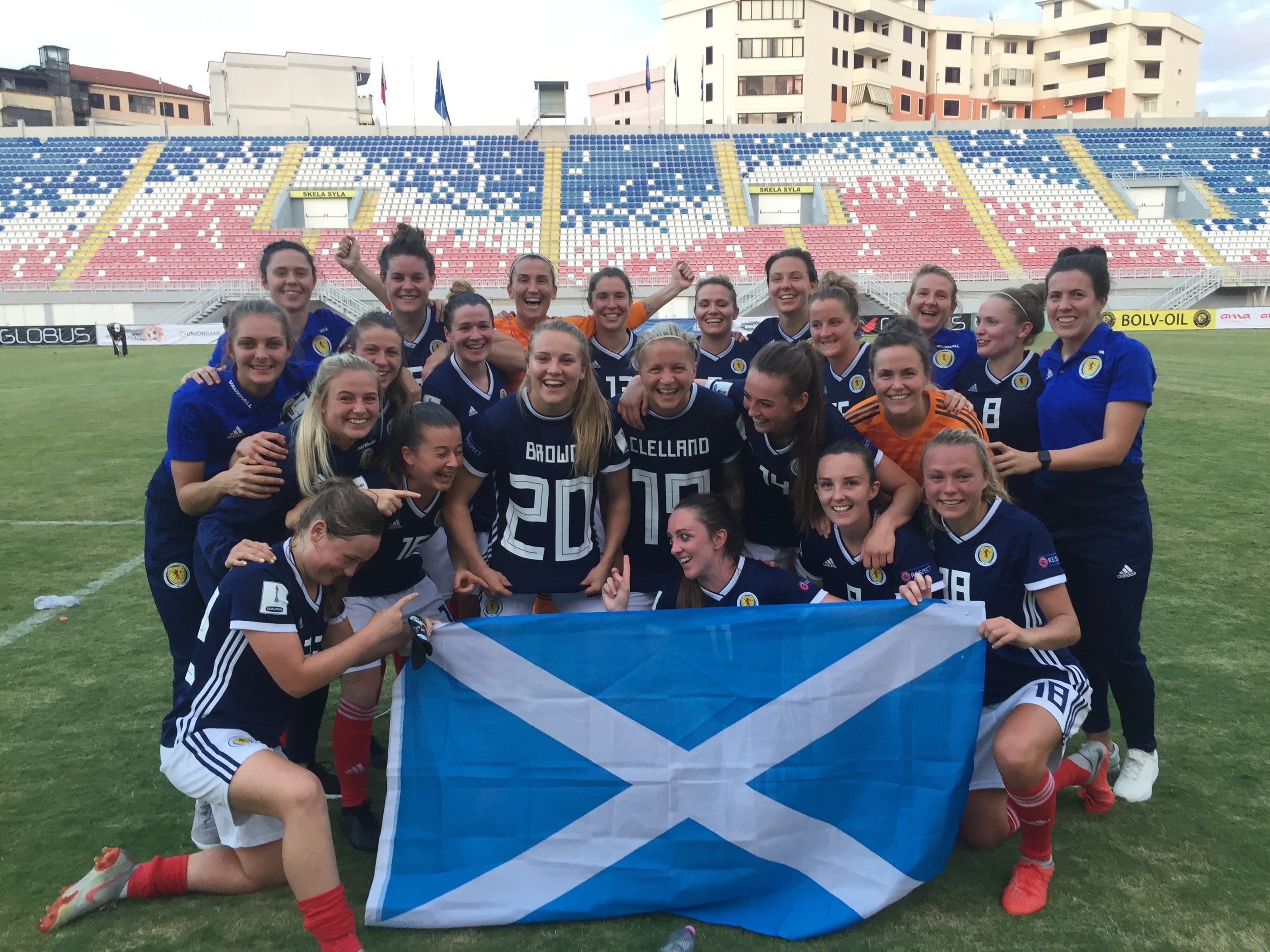 Scotland's win over Albania sent the women's team to the France 2019 World Cup (SFA)