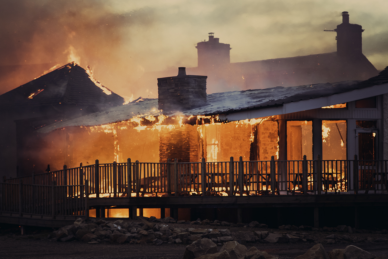 The blaze in Lossiemouth (Liam McBride)