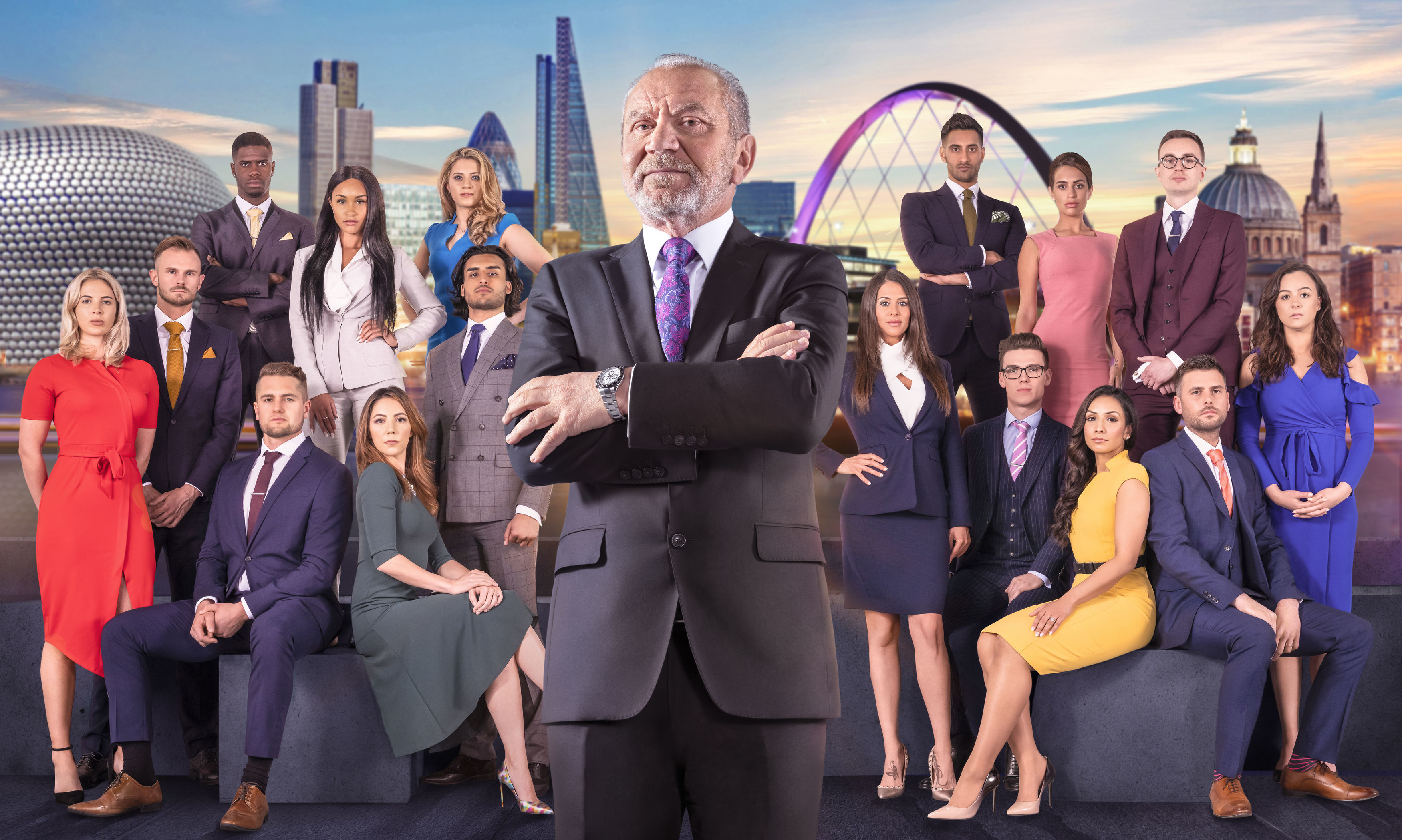Lord Sugar and this year's candidates (BBC / PA Wire)