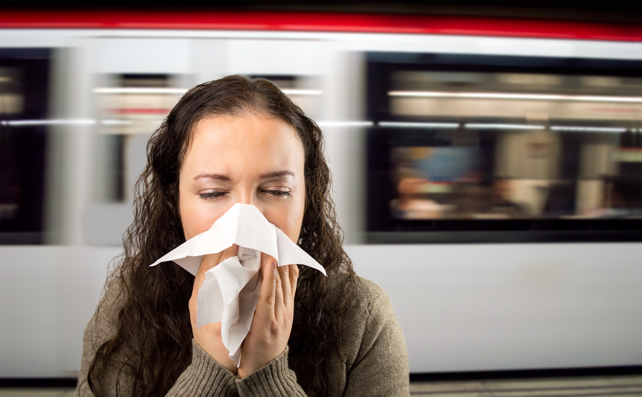 Tickets sneeze! Train stations are a destination for nasty bacteria (Getty Images)