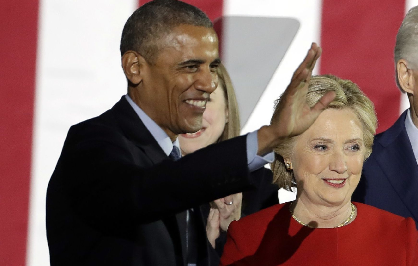 Barack Obama and Hillary Clinton (AP Photo/Matt Slocum)
