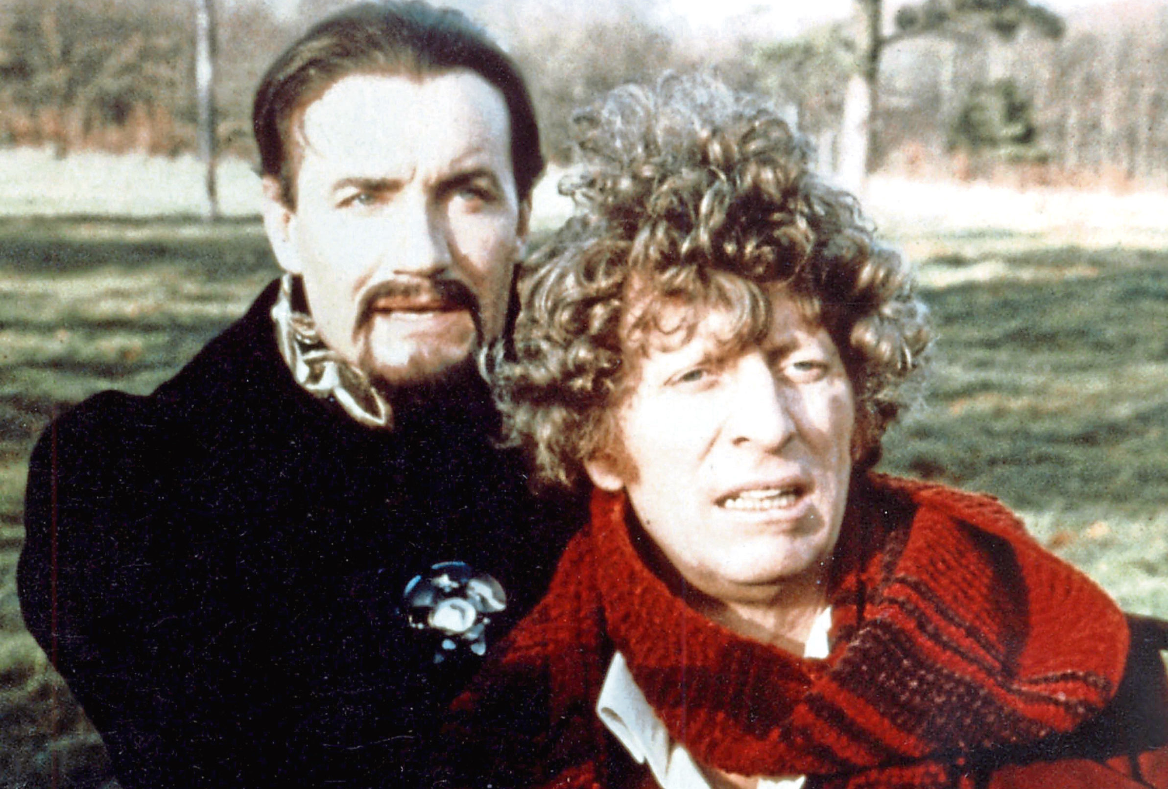 Anthony Ainley (The Master) and Tom Baker (Allstar)
