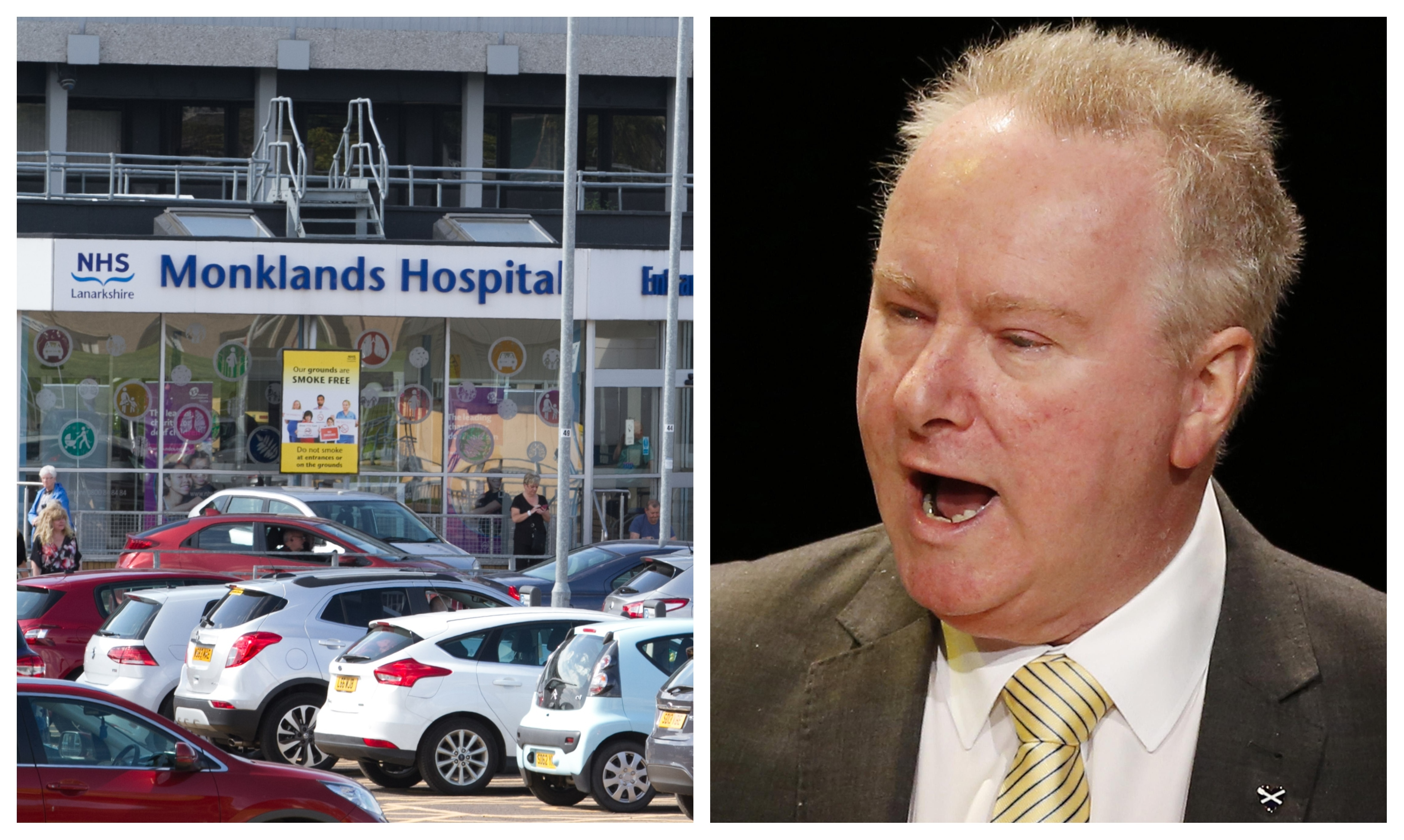 Alex Neil has accused NHS Lanarkshire of rigging consultation into possible sites for a new Monklands hospital