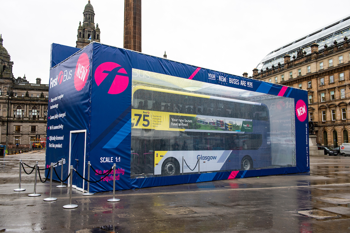 The launch of a new fleet of eco friendly buses at George Square (Lenny Warren / Warren Media)