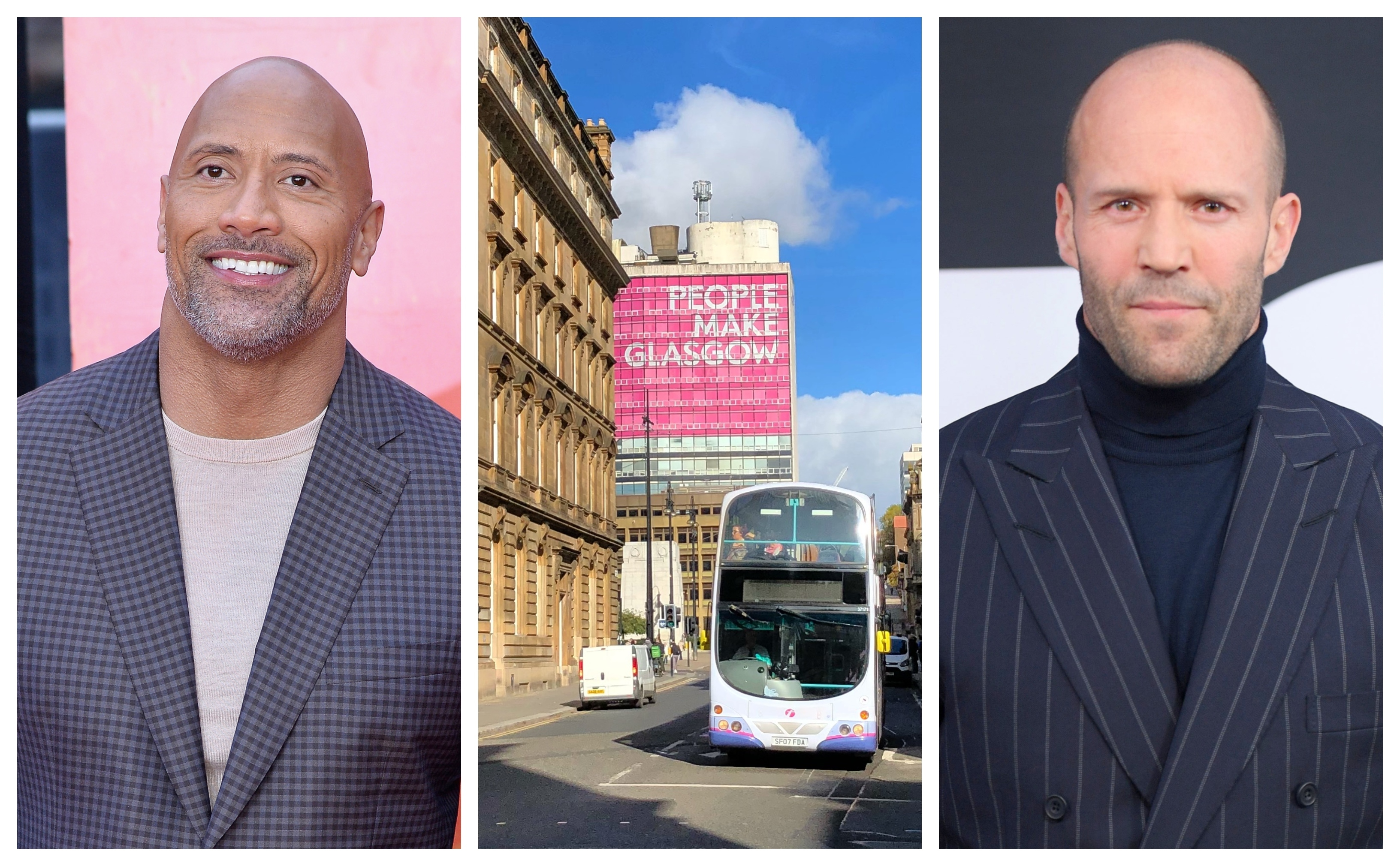 Action stars The Rock (left) and Jason Statham are heading for Glasgow