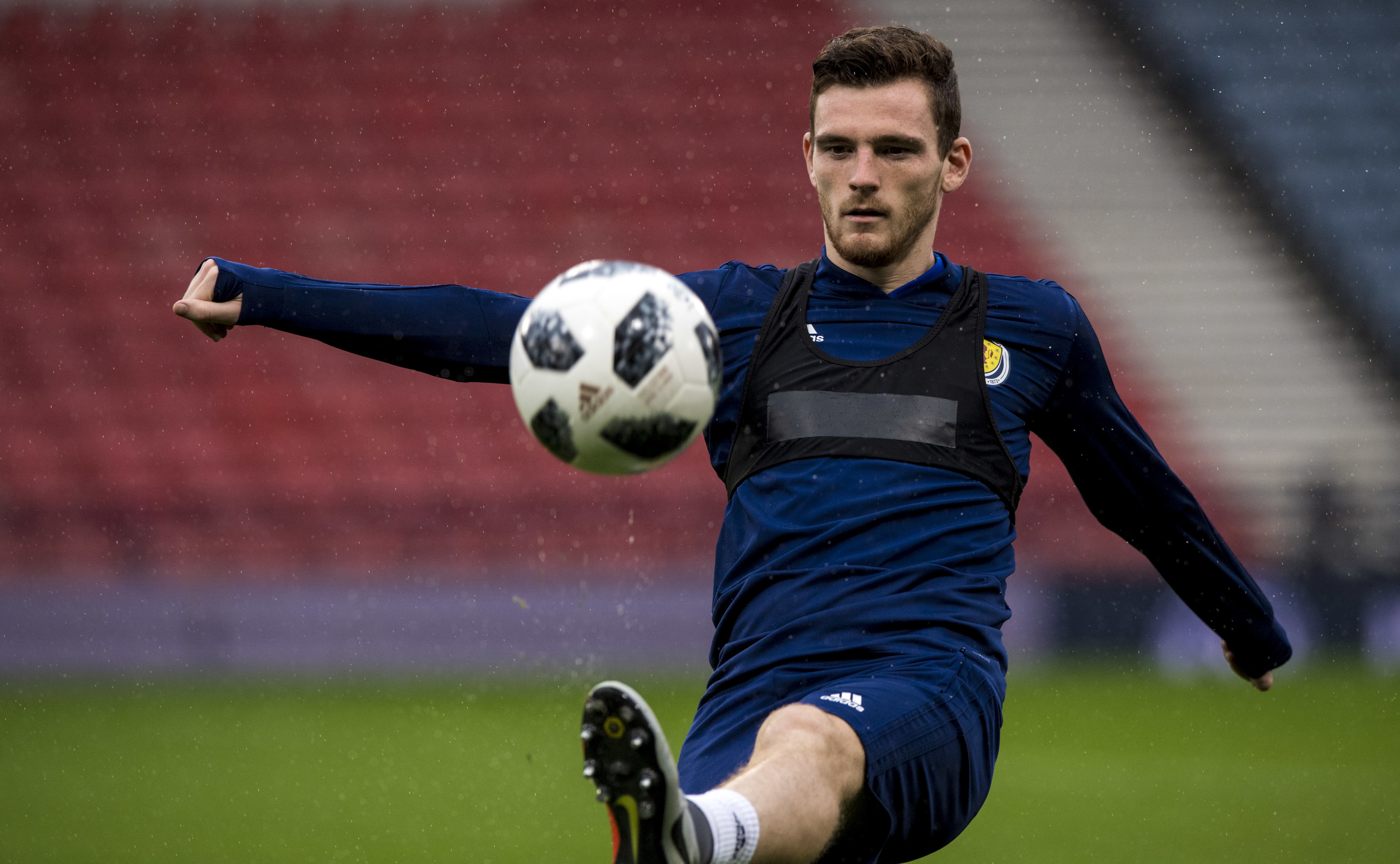 Andy Robertson at training ahead of the Portugal friendly (SNS Group)