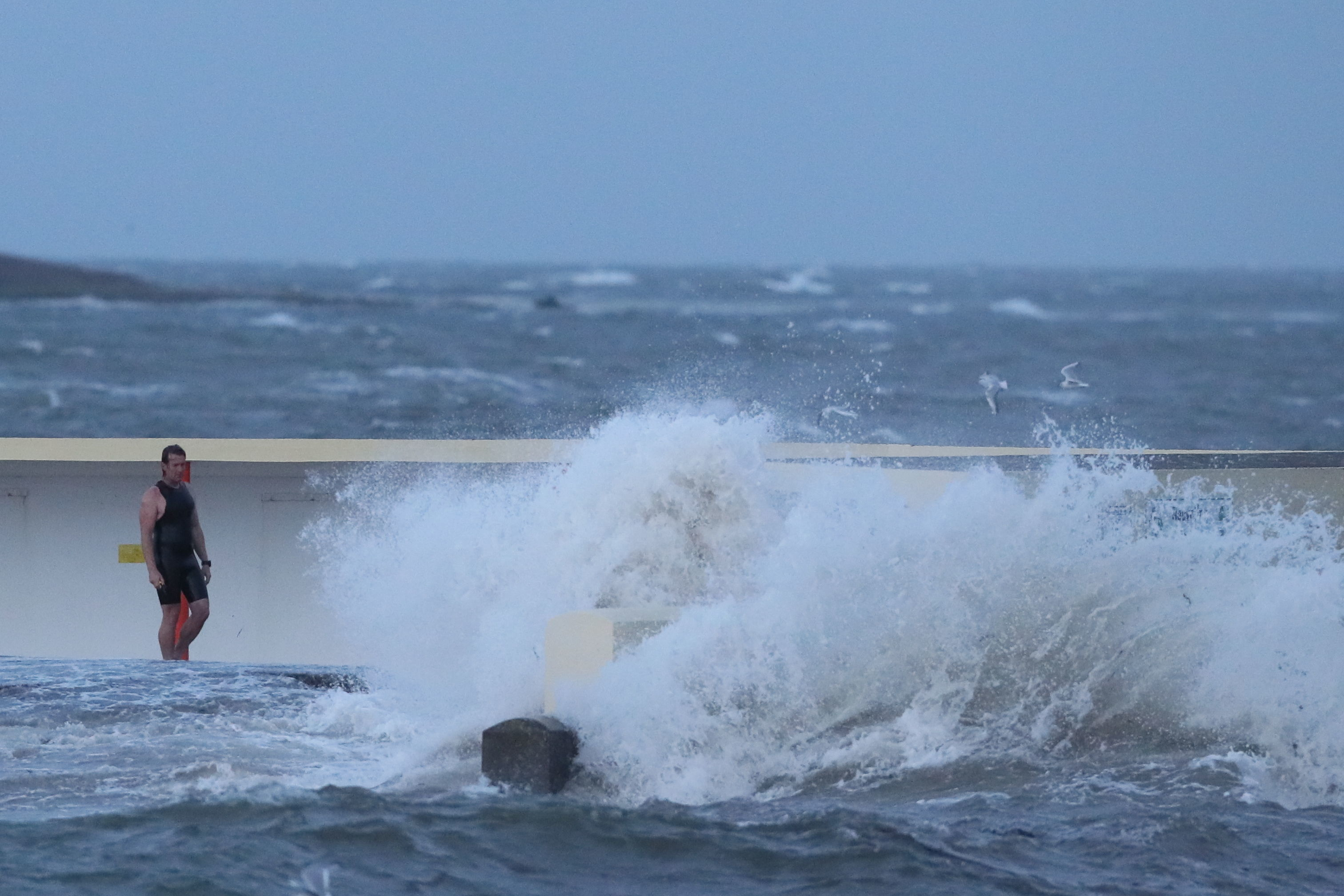 The storm has had an impact in Ireland overnight and is now passing Scotland (Brian Lawless/PA Wire)