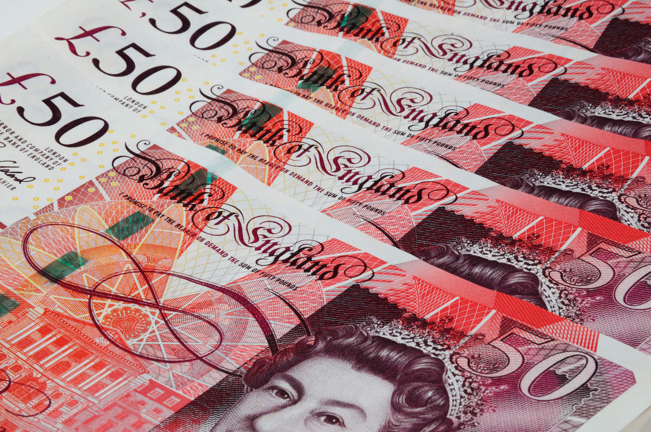 Bank of England fifty pound notes (Getty Images)
