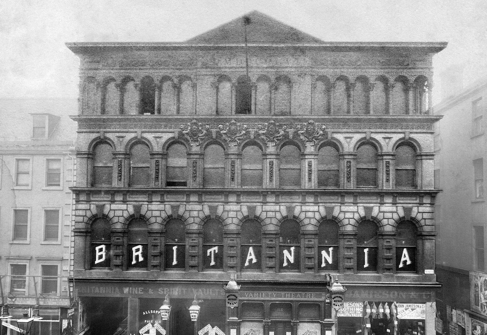 Front of the Britannia in 1890. britanniapanopticon.org.uk