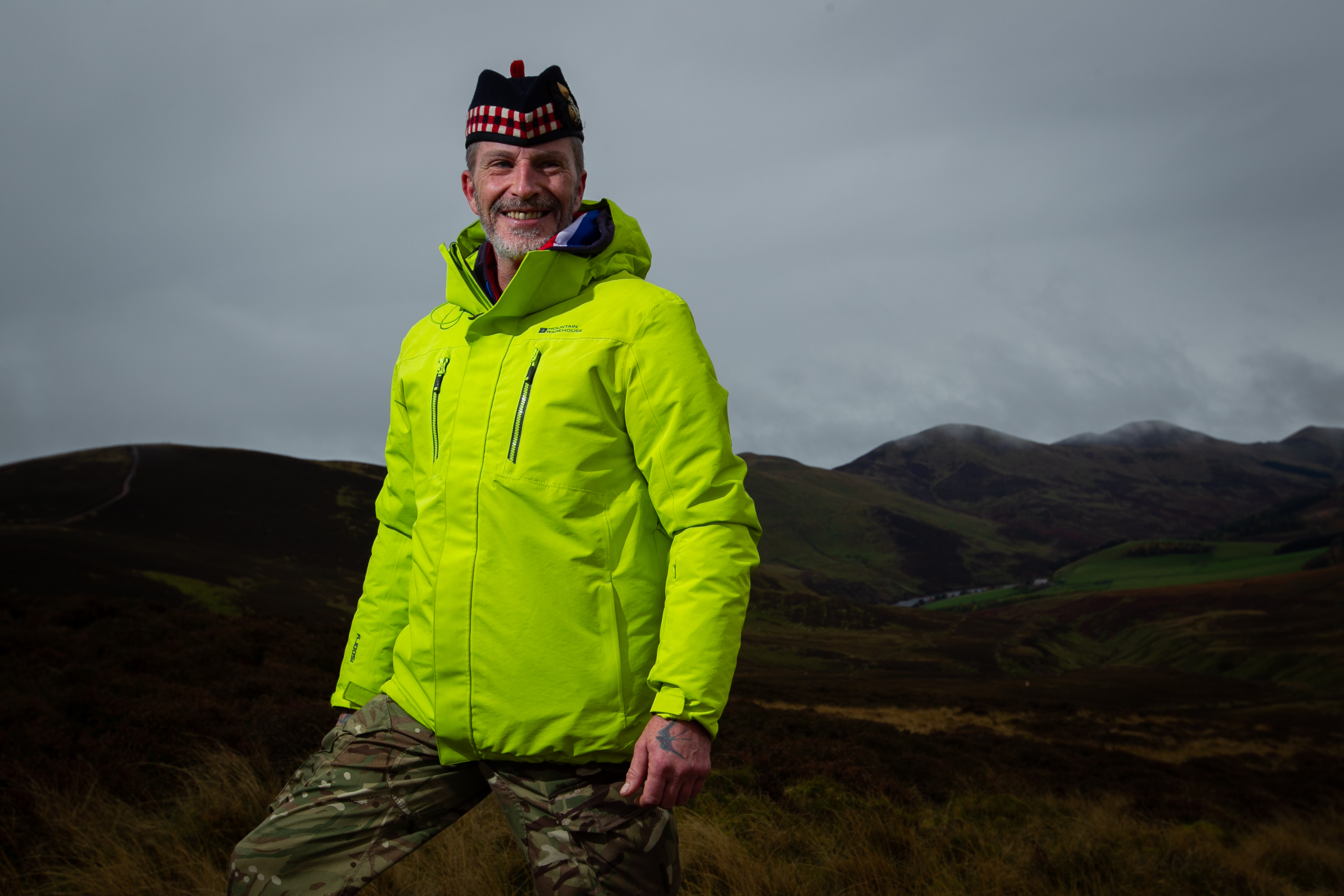 Marc Hutton set up a walking group as a way for veterans who are suffering from PTSD, depression, or other mental health issues, to come together, and socialise and talk. Pic shows: Scott Muir. (Andrew Cawley)