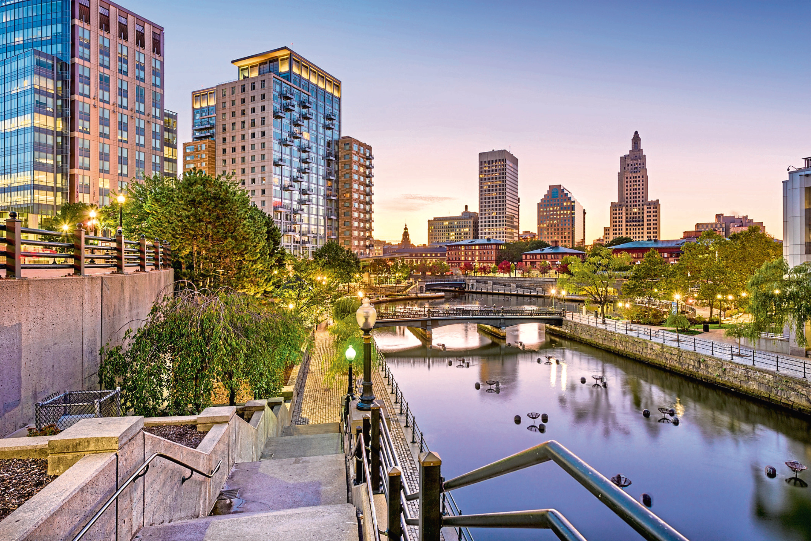 Riverside in Providence, capital of Rhode Island, where Catriona spent summer