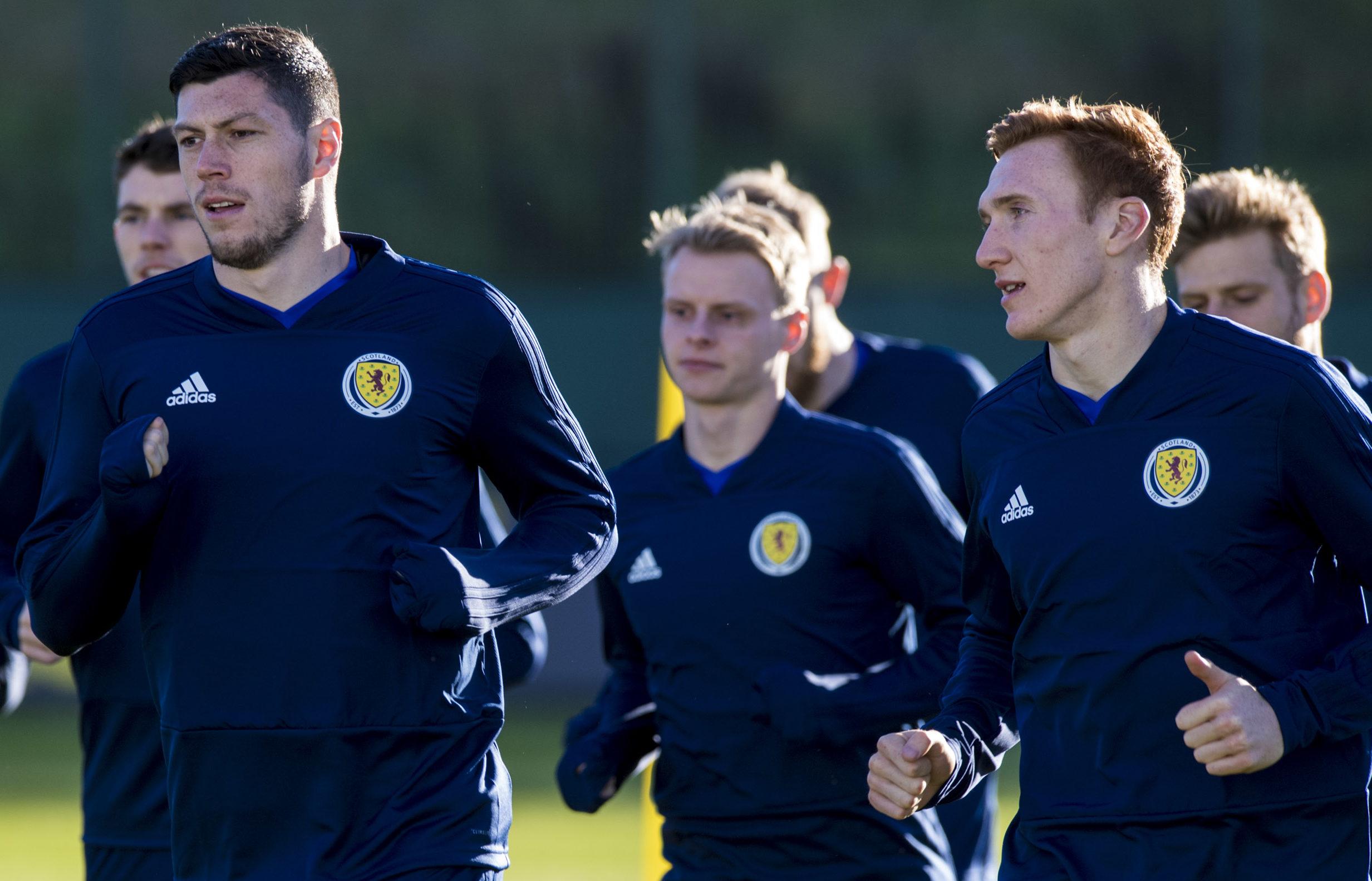 Scotland's Scott McKenna alongside teammate David Bates (SNS Group)