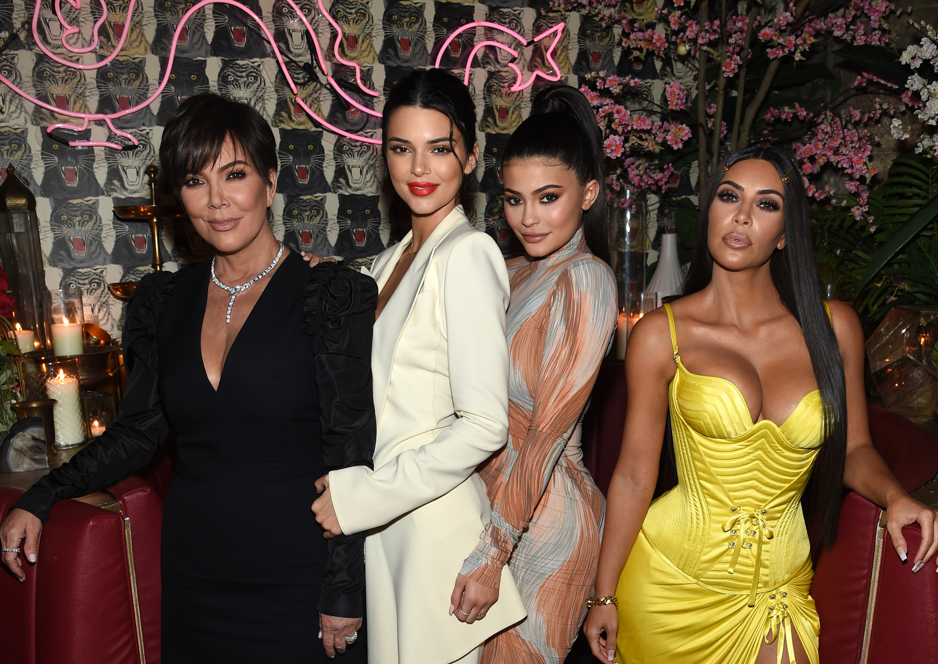 Kim Kardashian (right) is a fan of Hollywood skin treatments. (Photo by Dimitrios Kambouris/Getty Images for The Business of Fashion)