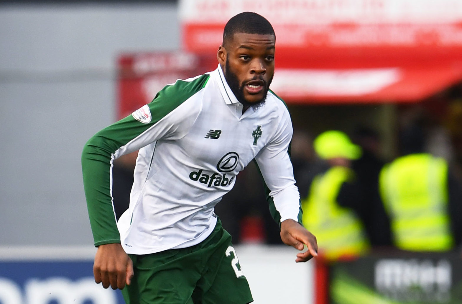 Olivier Ntcham in action for Celtic against Hamilton (SNS Group / Craig Foy)