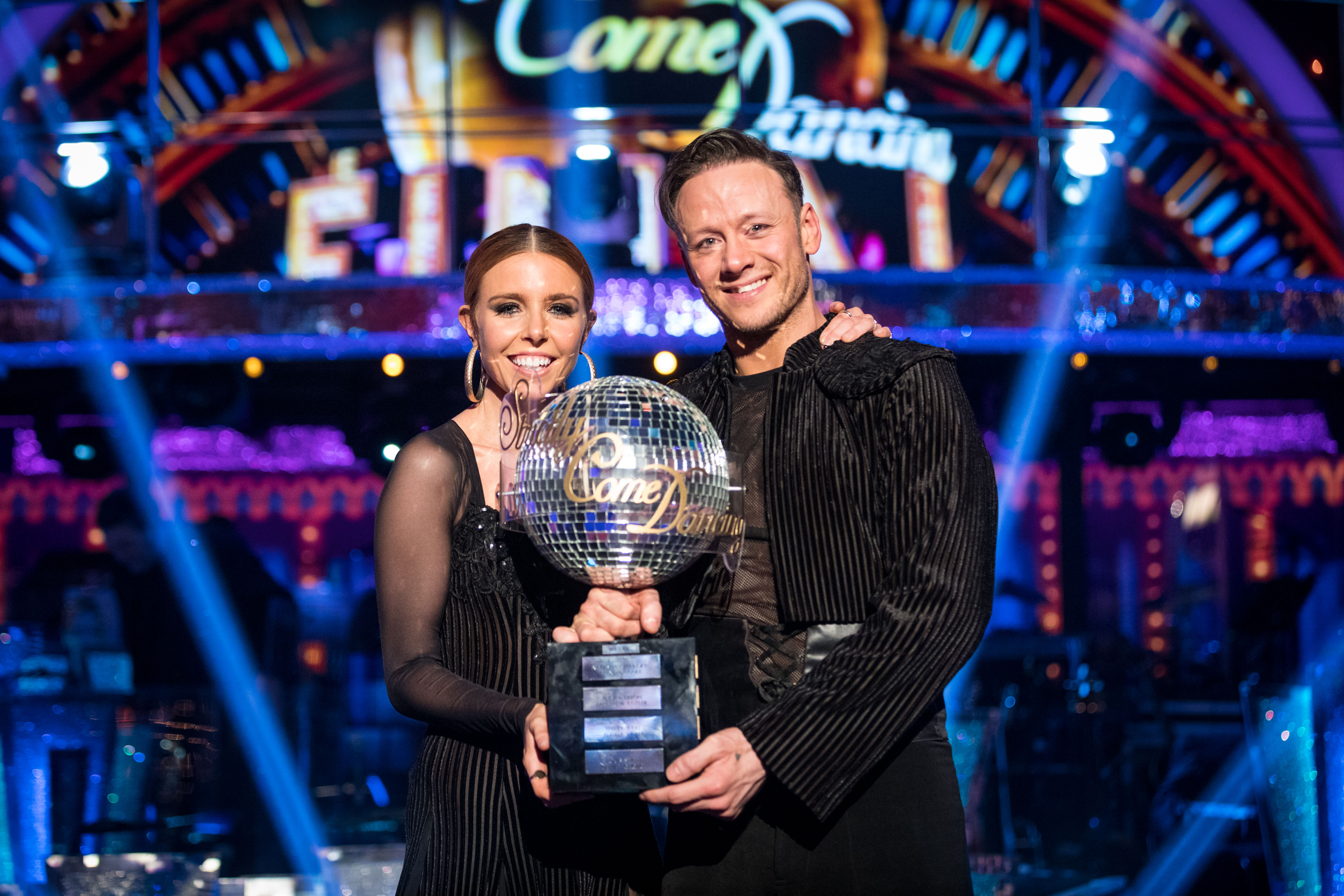 Kevin with partner Stacey Dooley after becoming Strictly Come Dancing champions last week. (Guy Levy).