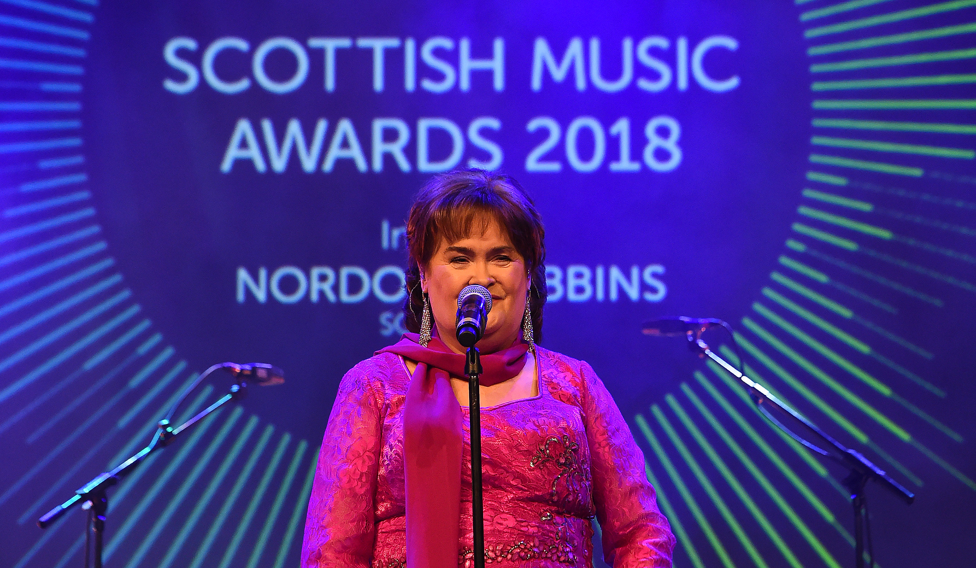 Susan Boyle performs at the 20th year celebrations of the SSE Scottish Music Awards (Andy Buchanan)