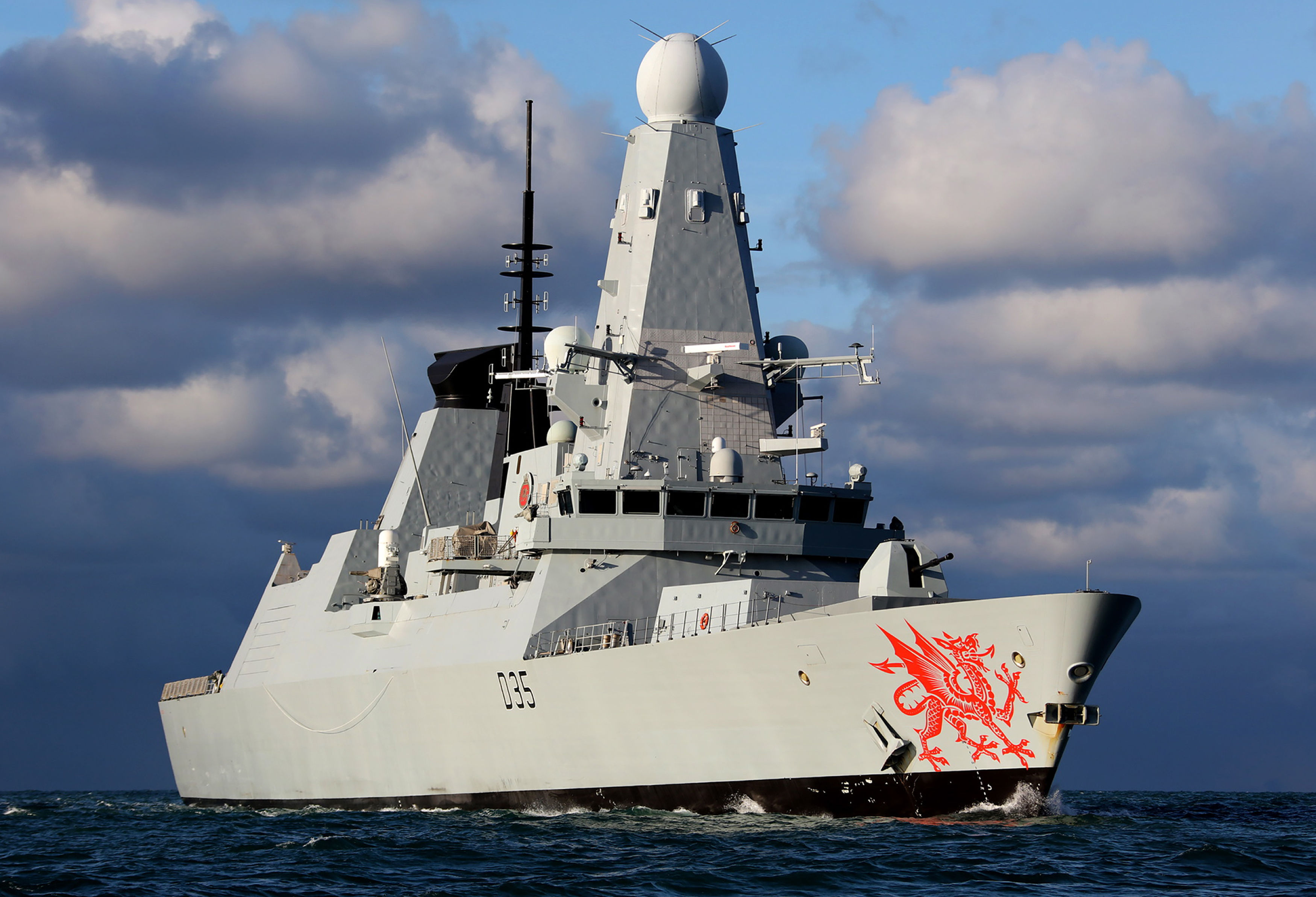 Clydebuilt warship HMS Dragon.