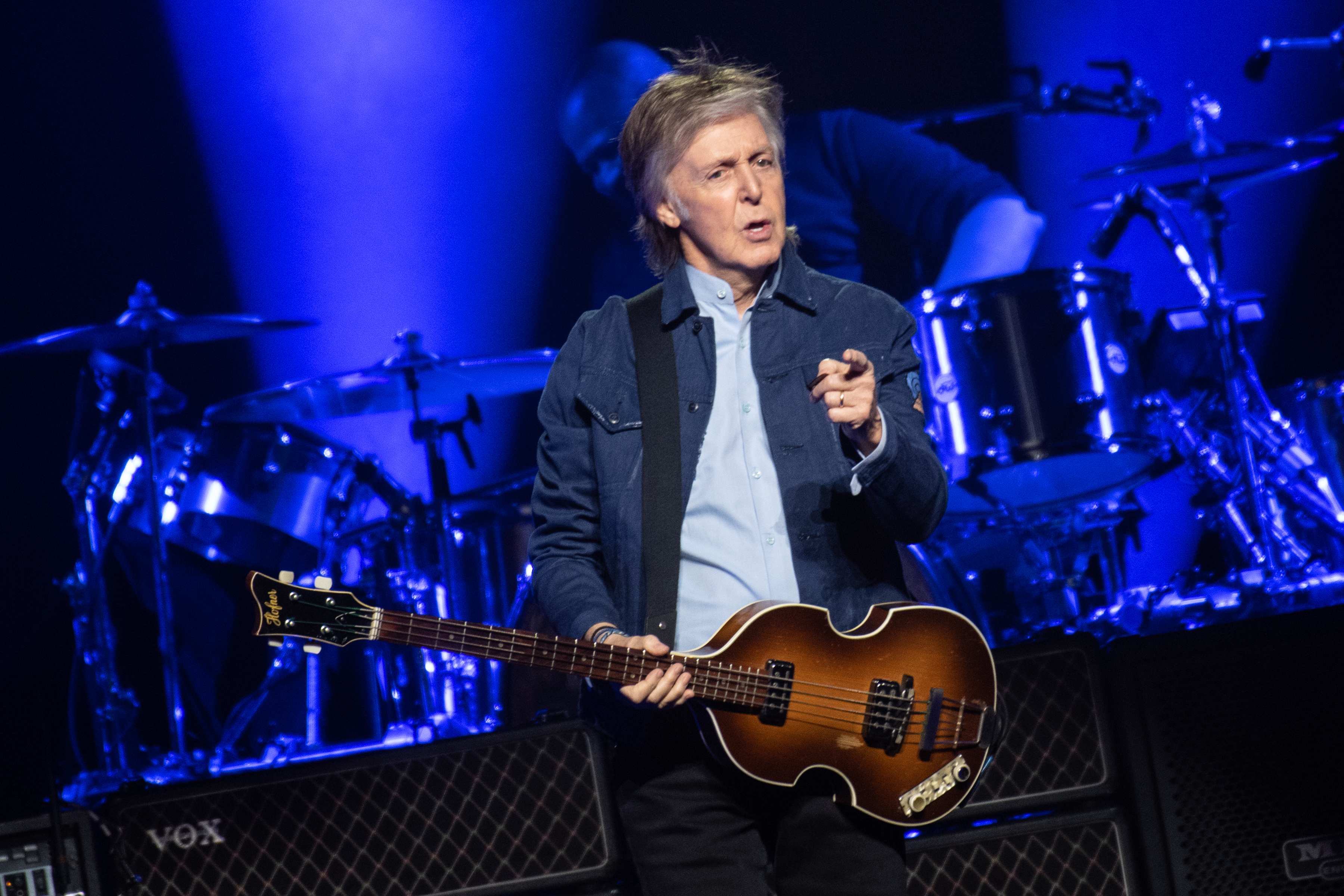 Sir Paul McCartney performs on stage at The SSE Hydro on December 14, 2018 in Glasgow, Scotland.