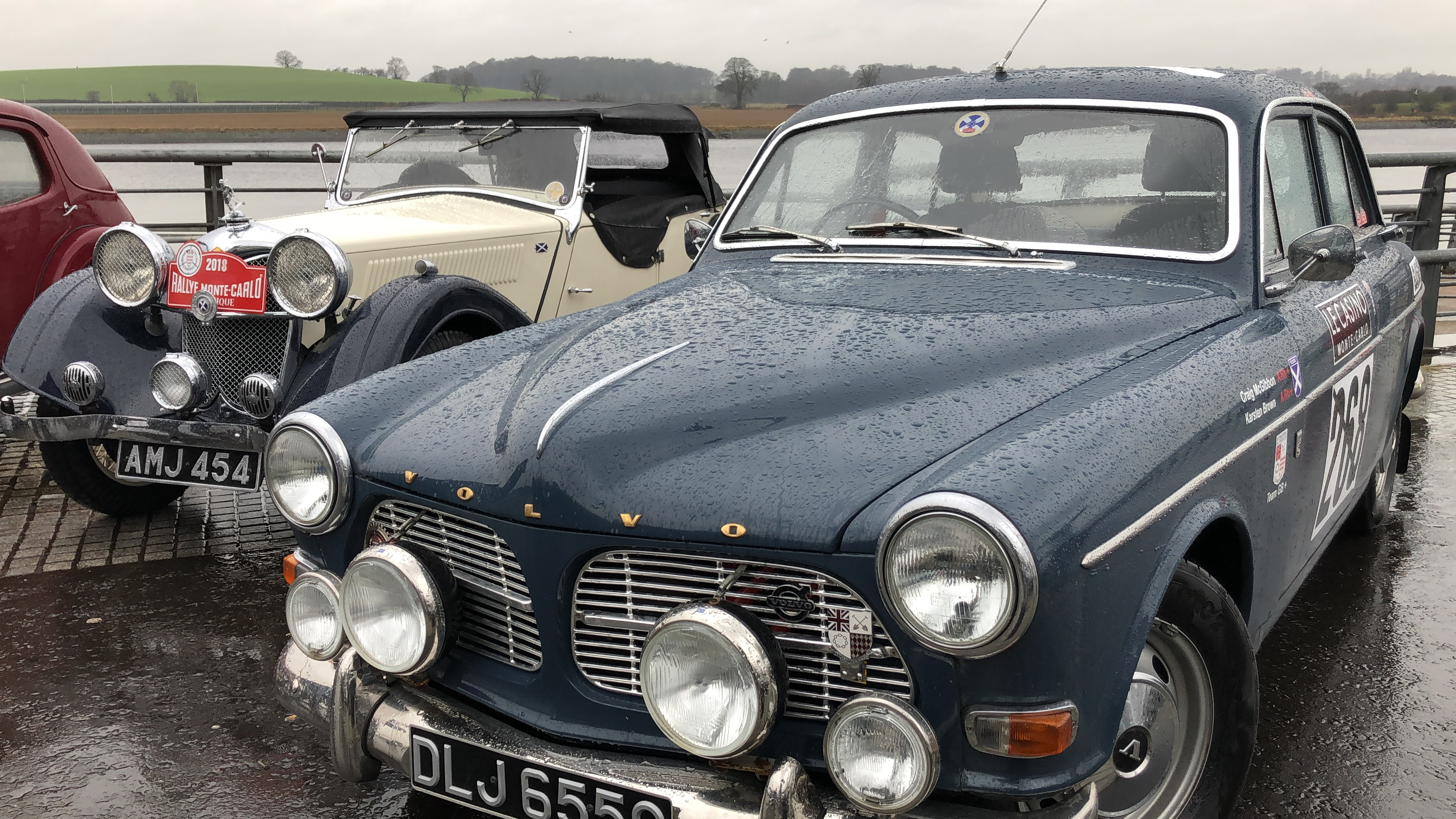 Classic cars at Clydebank, including a 1965 Volvo Amazon (right) and a Riley Lynx from 1936 (left) (Ross Crae / DC Thomson)