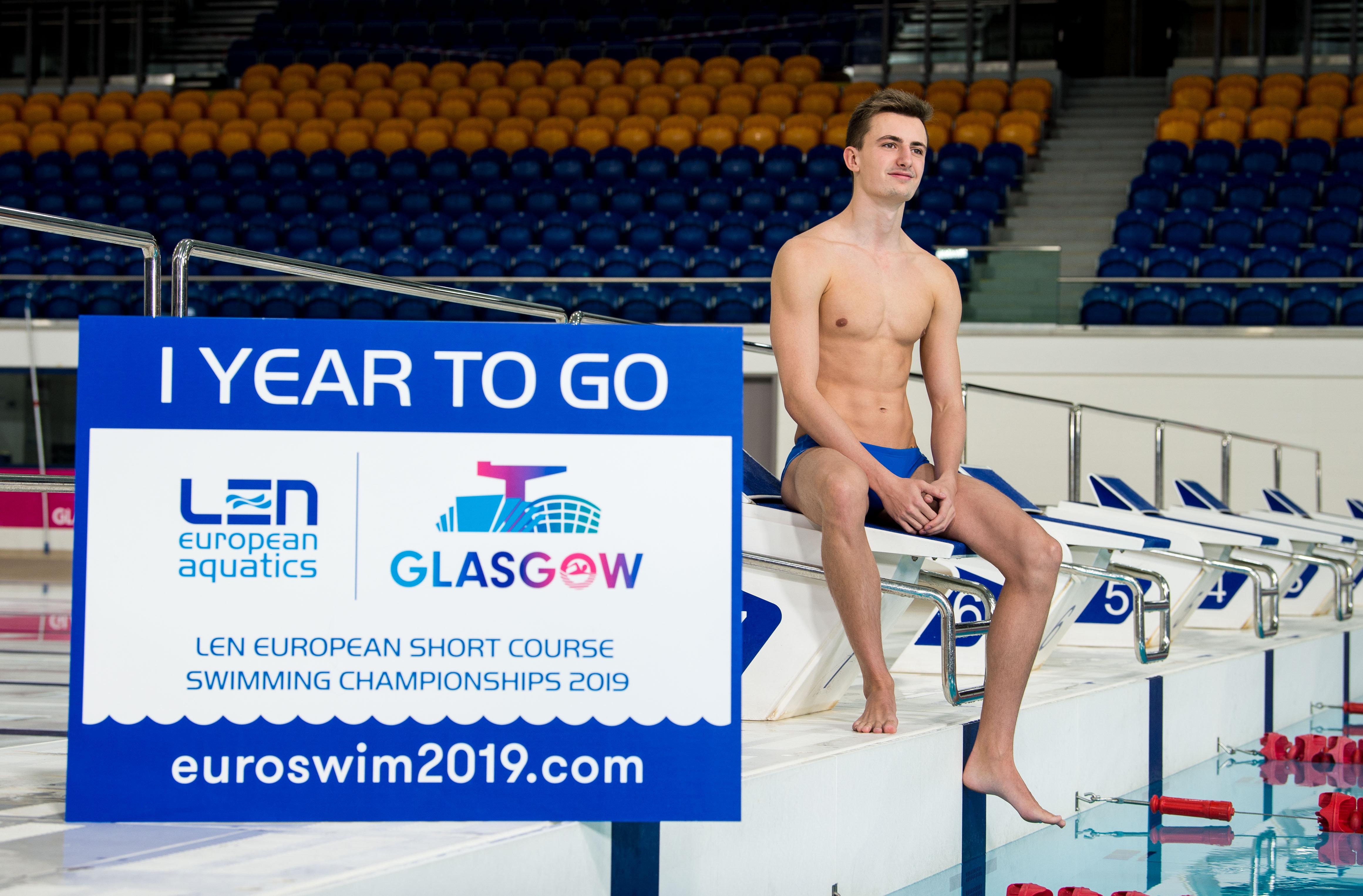 Joe Watt, a member of the City of Glasgow Swim Team pictured at Tollcross International Swimming Centre