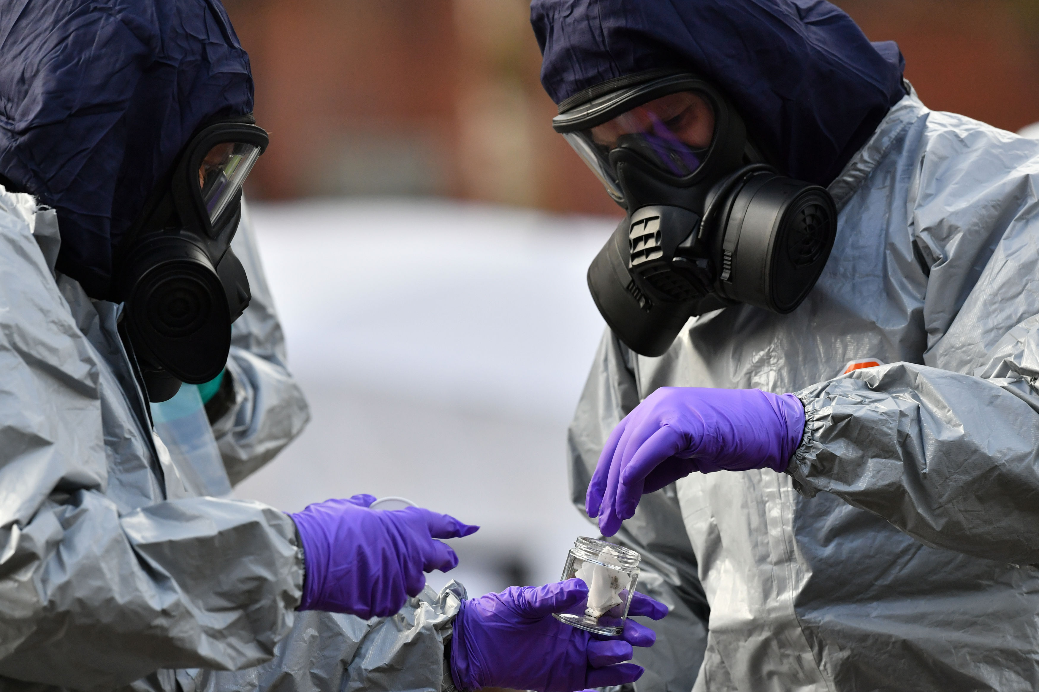 Police investigate the nerve agent attack (Ben Birchall/PA Wire)