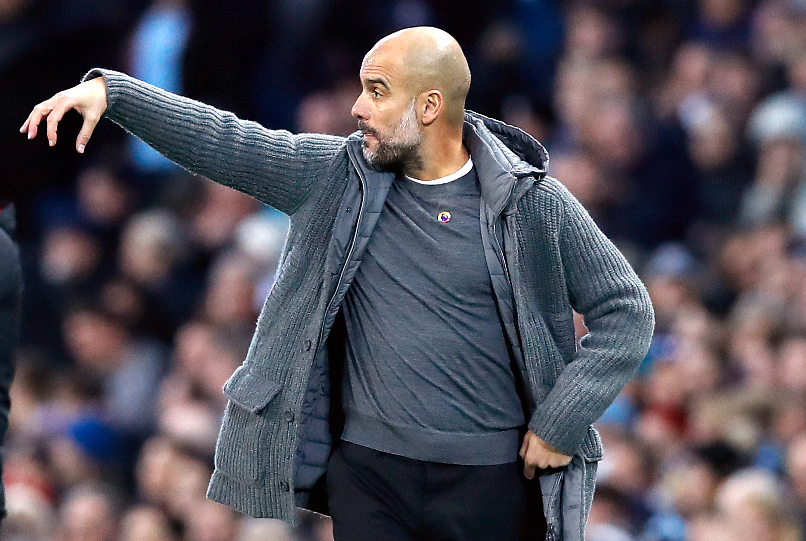 Pep Guardiola on the touchline (Martin Rickett/PA Wire)