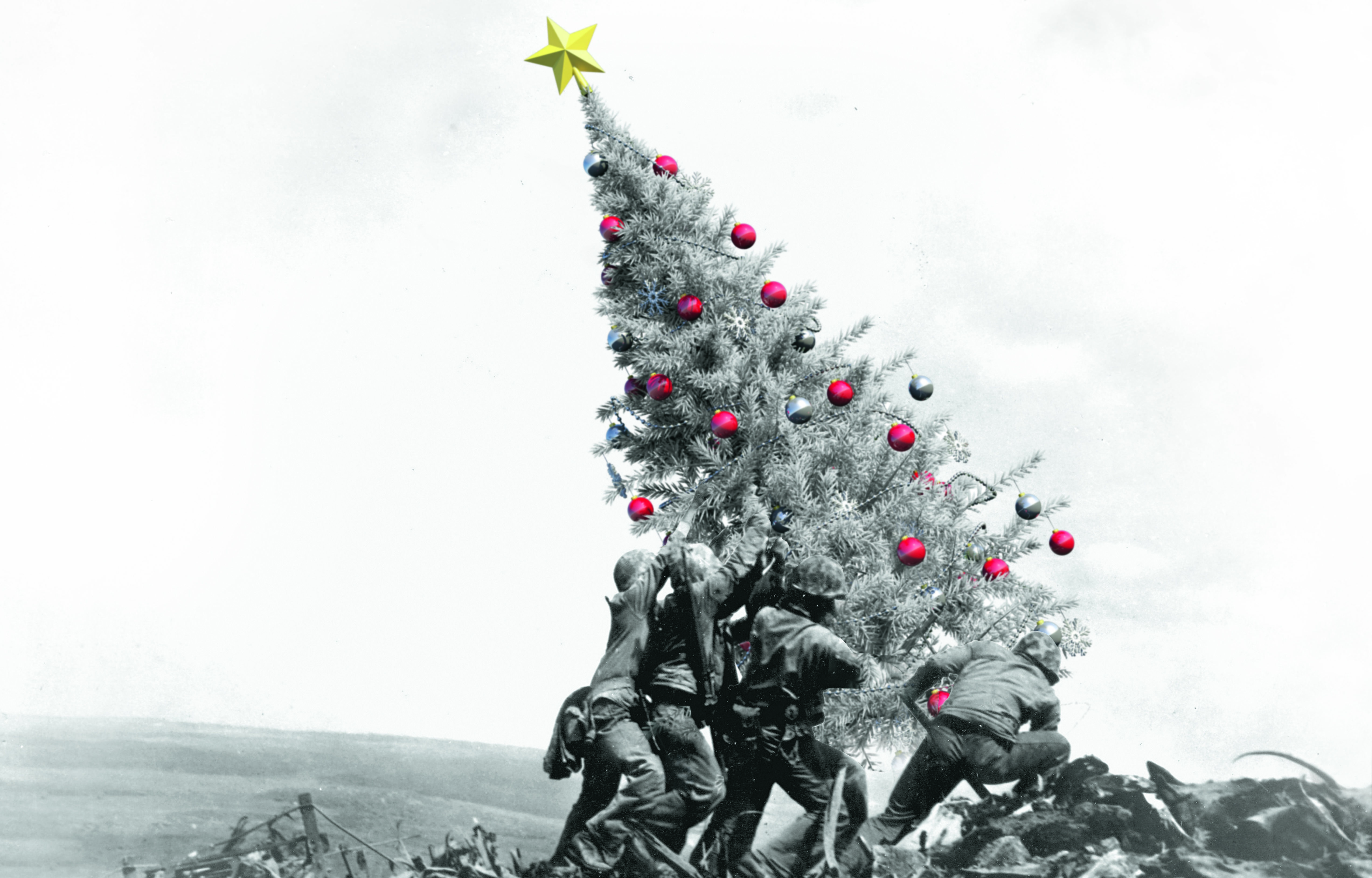 It isn't the sands of Iwo Jima where American troops raised the flag but a family Christmas can be a brutal affair