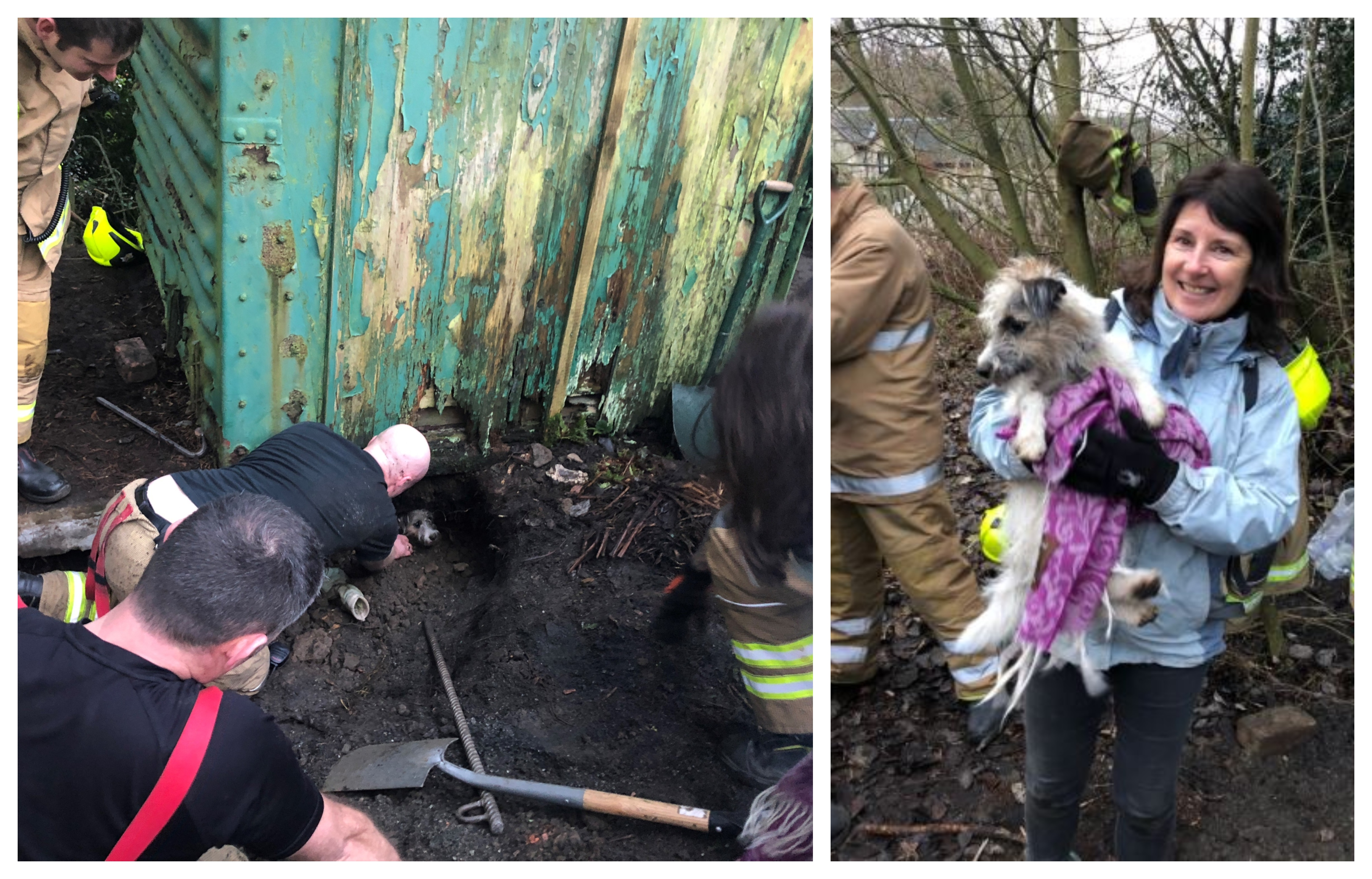 Ethel was rescued on Sunday night (Scottish Fire & Rescue Service)