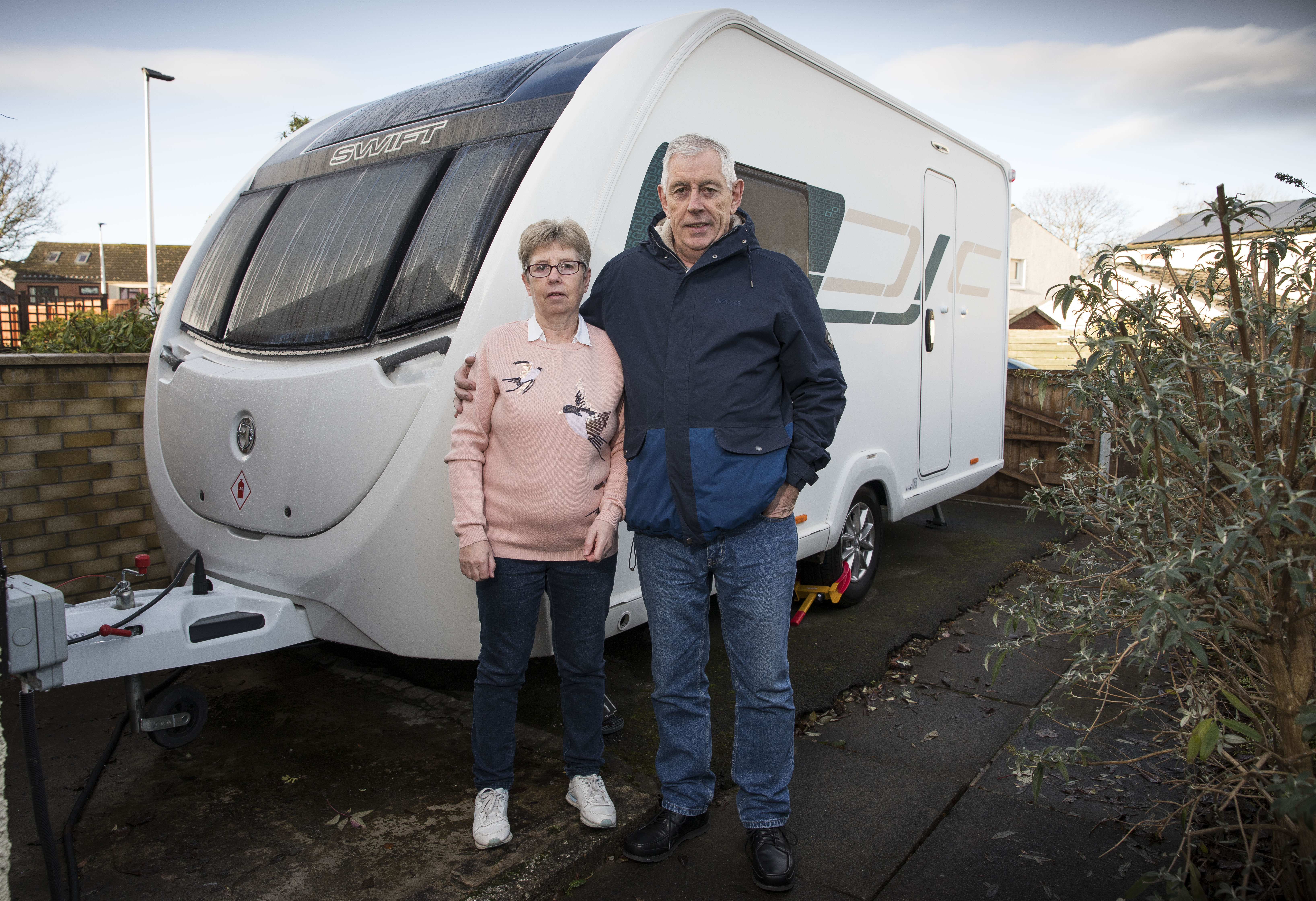 Alexander Strathie from Grangemouth has had no end of problems with his Caravan. (Jamie Williamson).