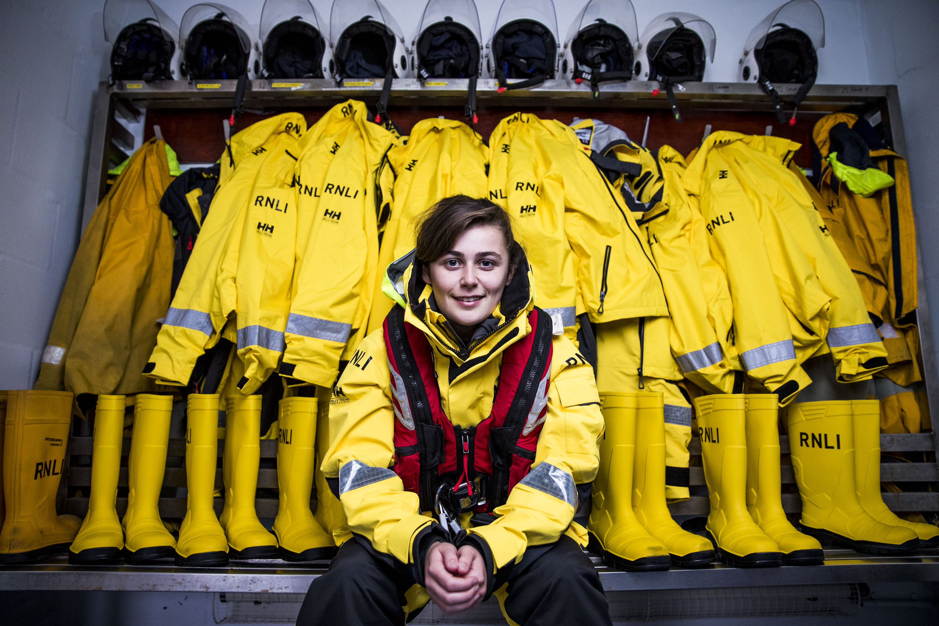 2nd Cox of the Girvan Lifeboat Gary McGarvie's daughter Luciana, 17, is the youngest member of the Girvan lifeboat crew. (Jamie Williamson)