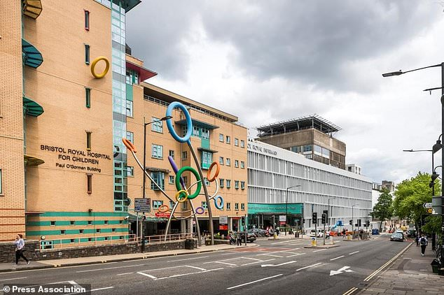 The unnamed toddler was admitted to Bristol Royal Hospital for Children (pictured) on Monday for an operation to treat an undescended testicle. (PA).