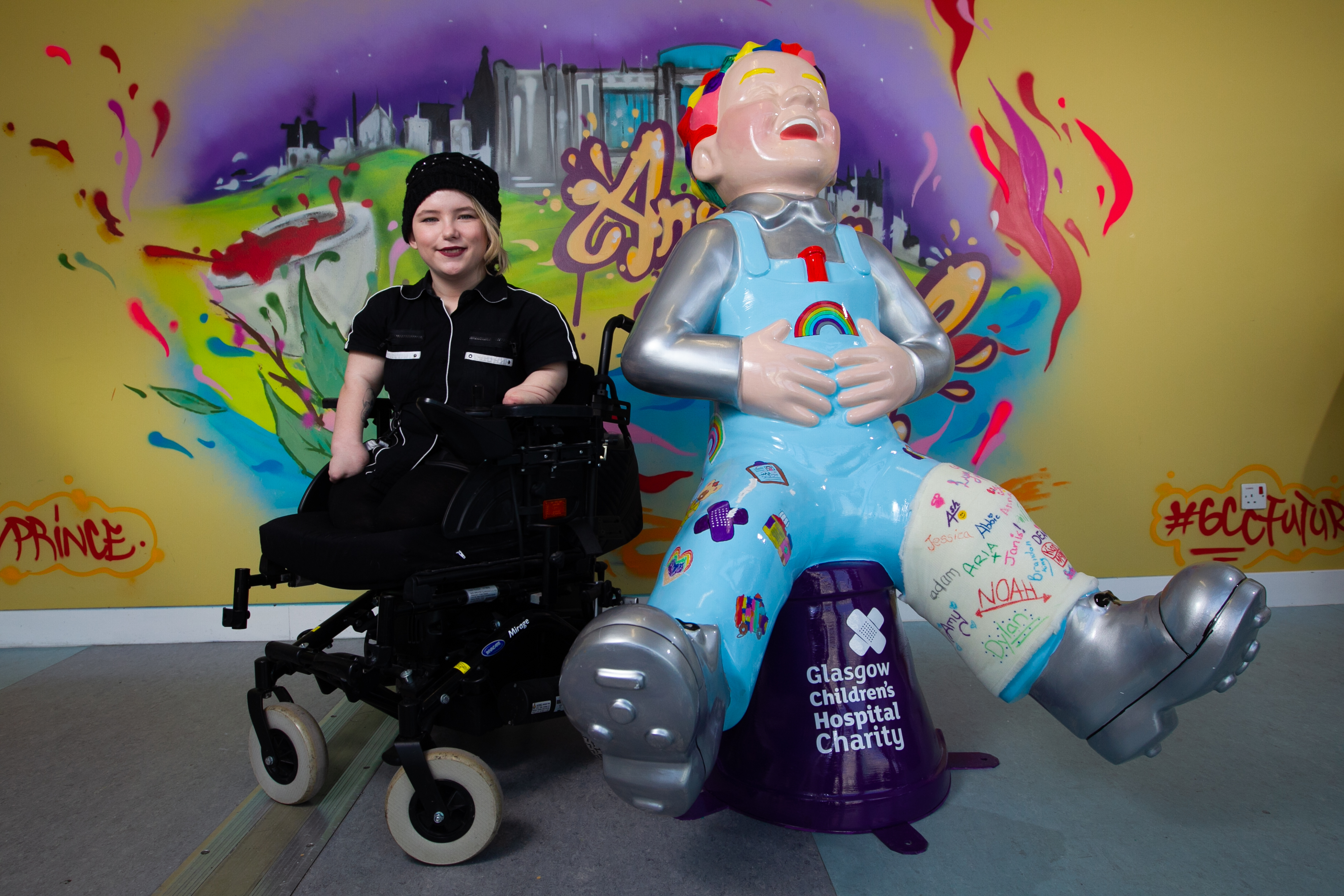 Disabled art student, Taylor McTaggart is going to be doing a design for one of the Oor Wullie sculptures as part of the Bucket Trail. (Andrew Cawley).