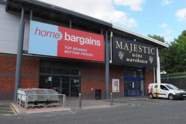 The Home Bargains store where a father attacked his son with acid.