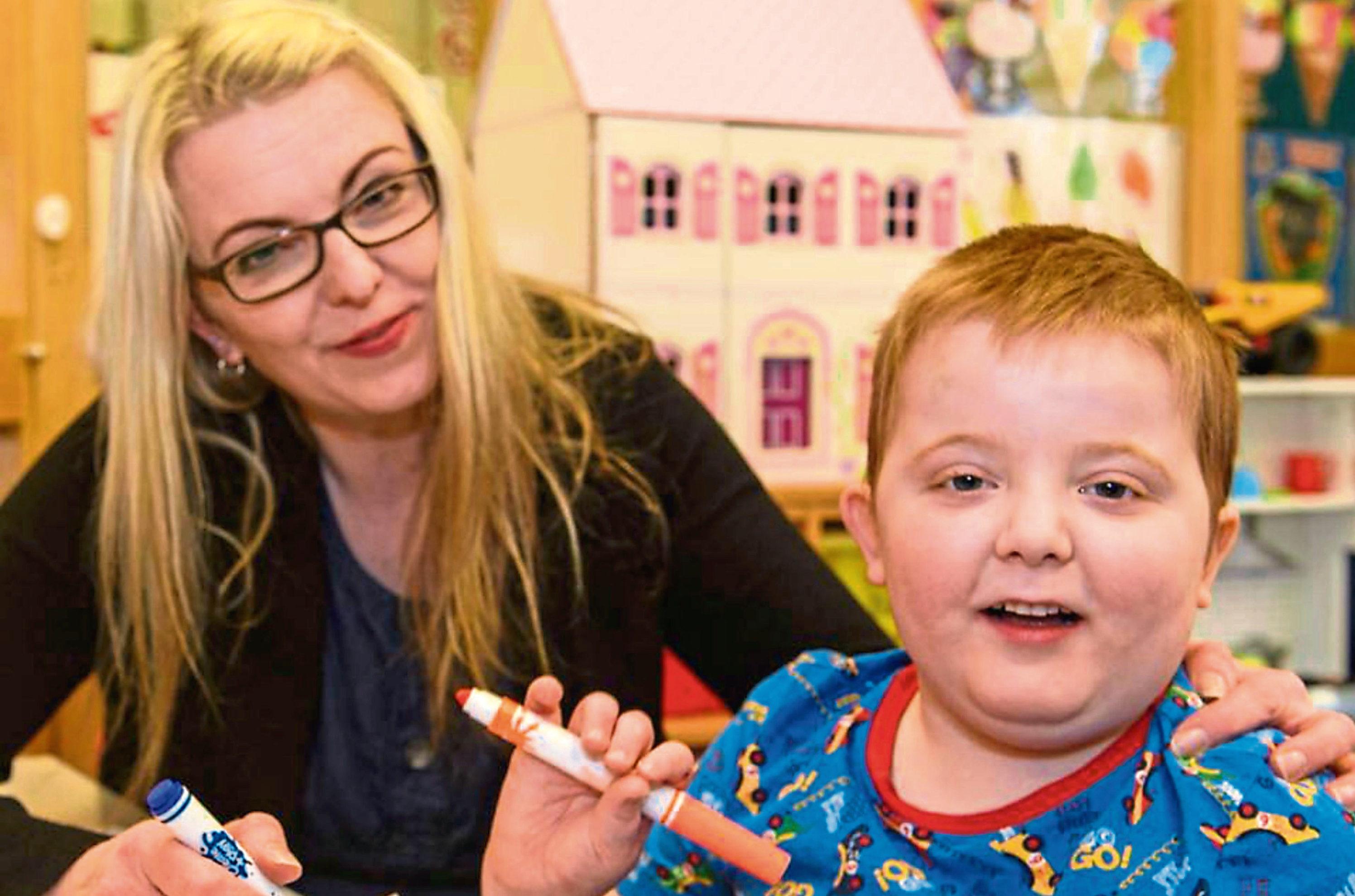 Karen Gray with son Murray